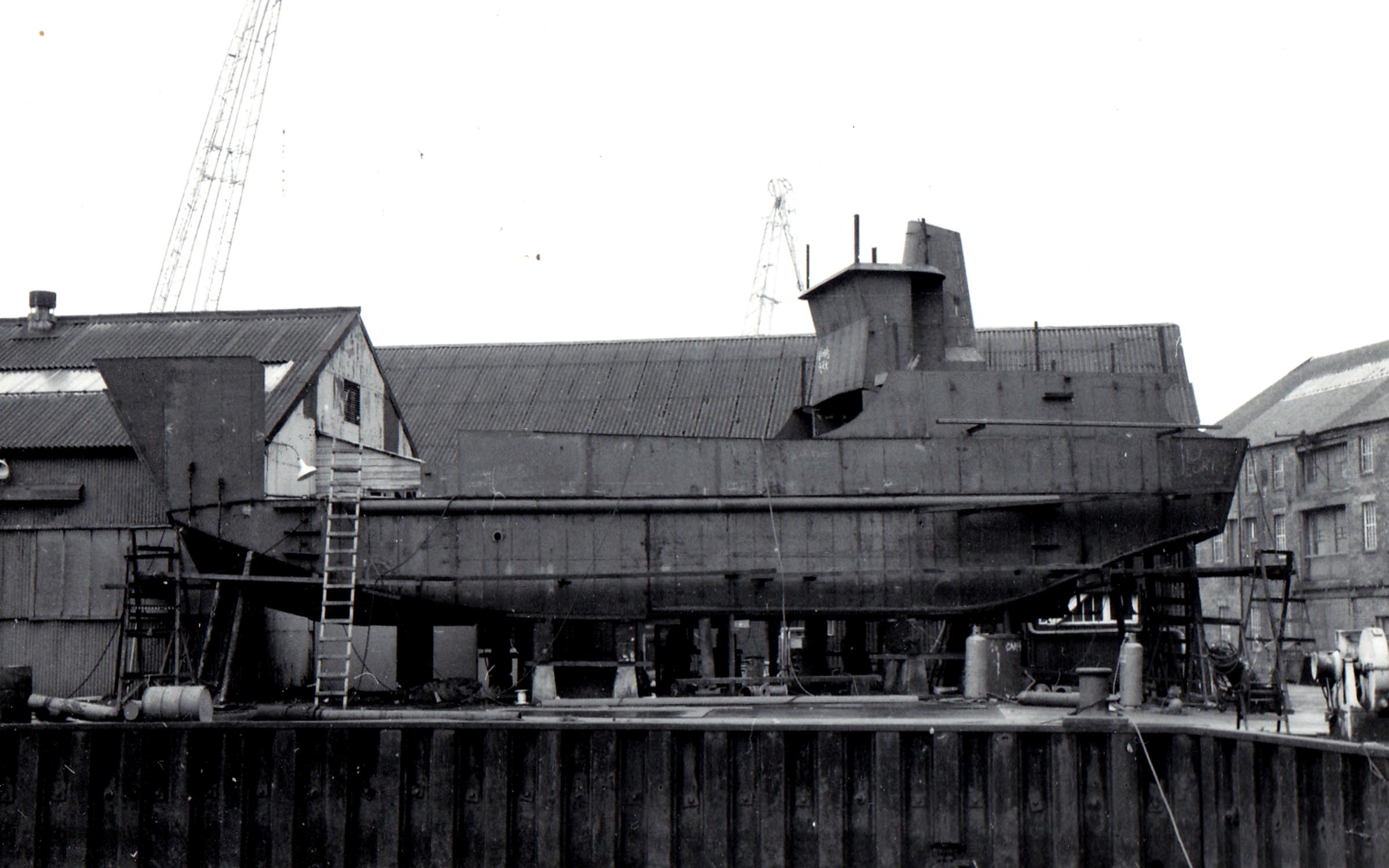 Morvern under construction at Lamont's yard (Jim Aikman Smith)