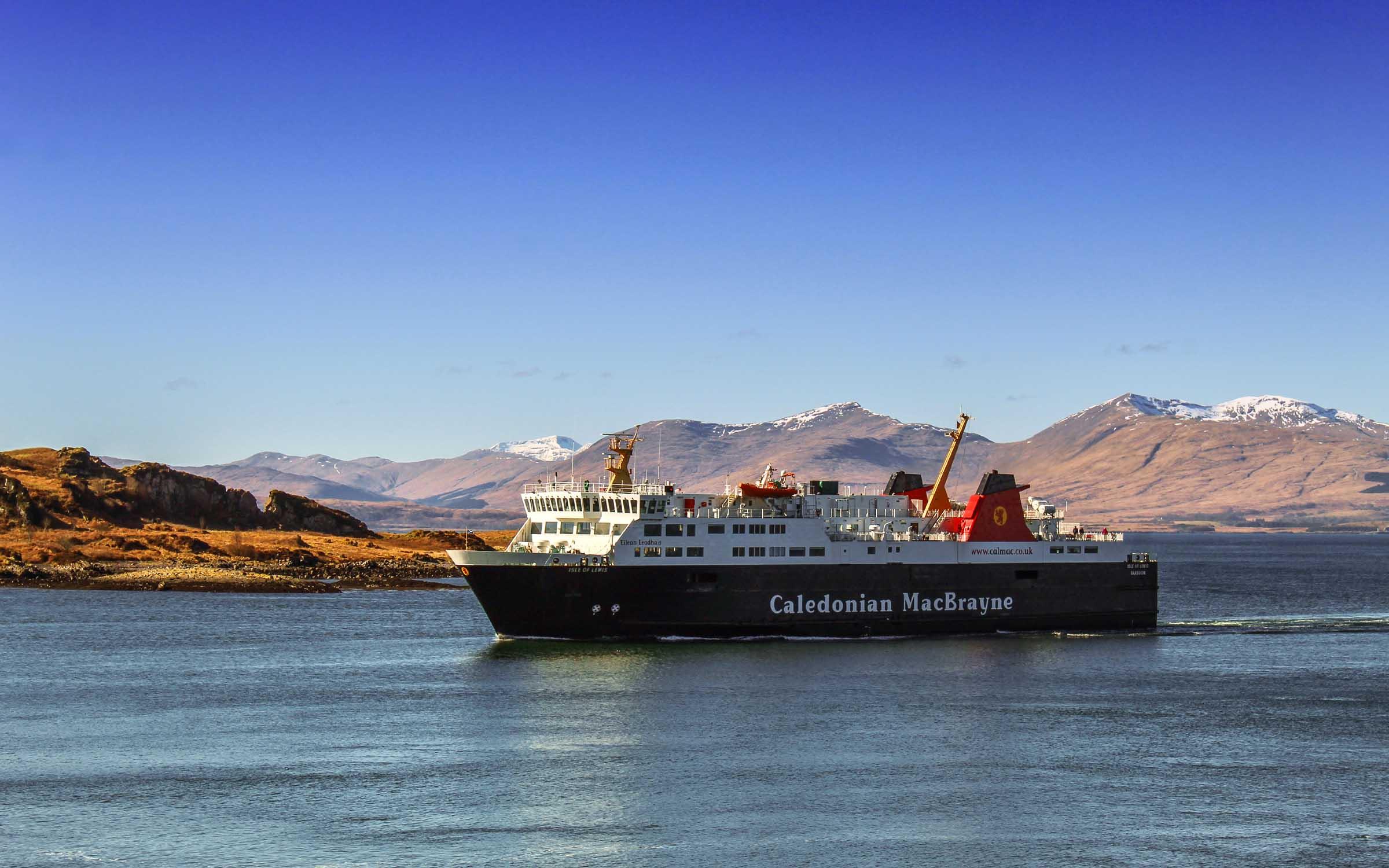 Isle of Lewis entering Oban Bay (Ships of CalMac)