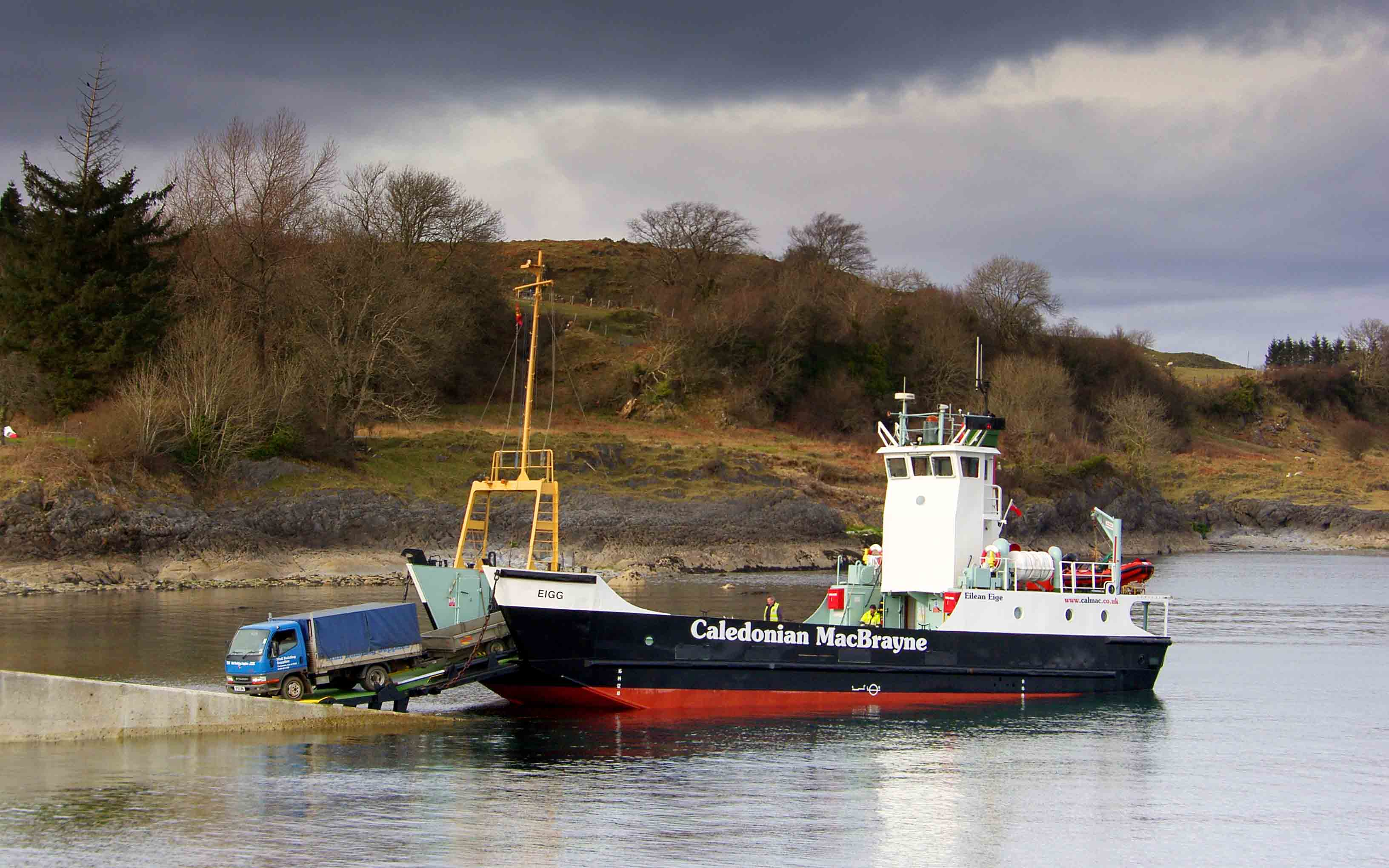 Eigg at Lismore slipway (Ships of CalMac)