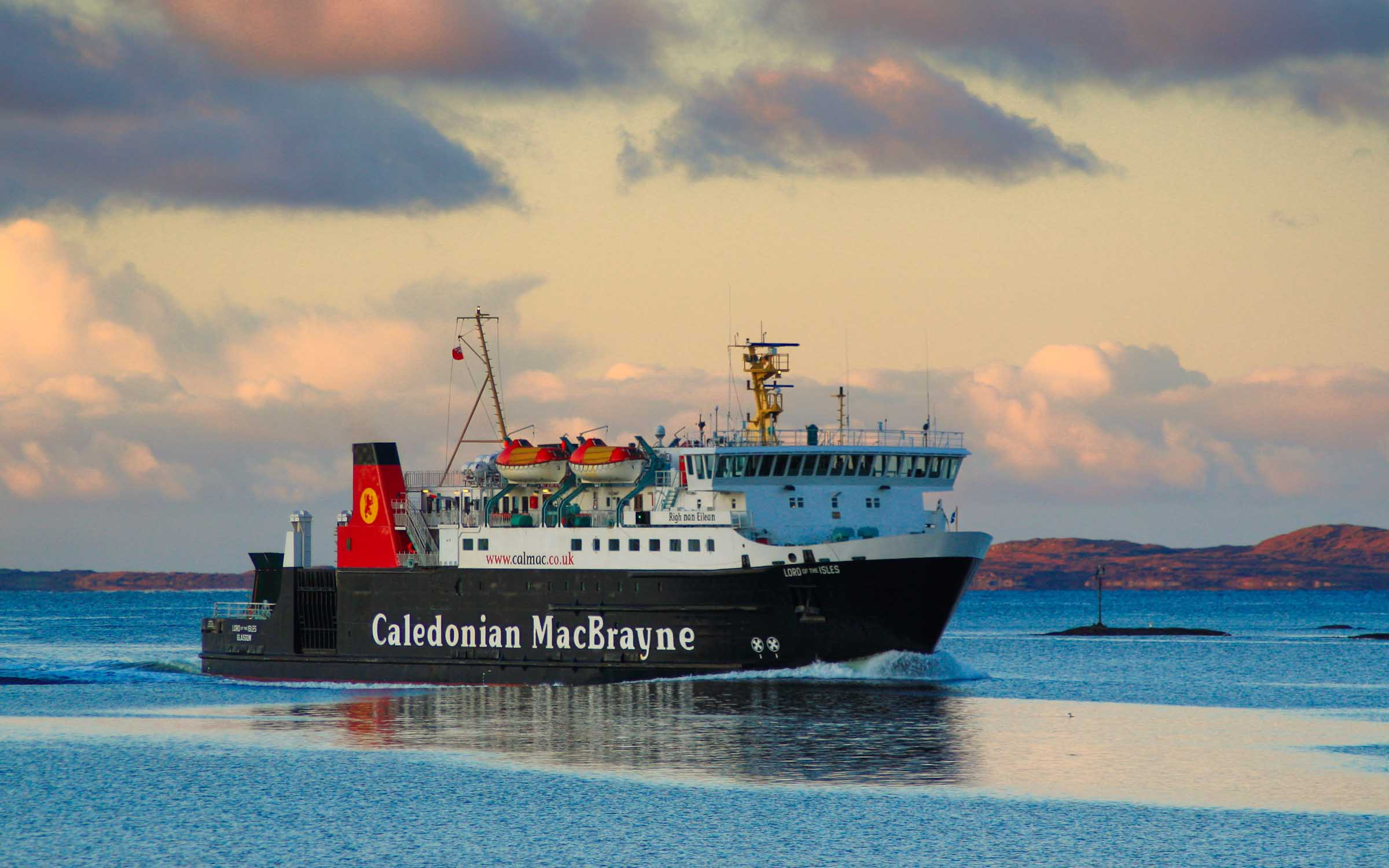 Lord of the Isles in West Loch Tarbert (Ships of CalMac)