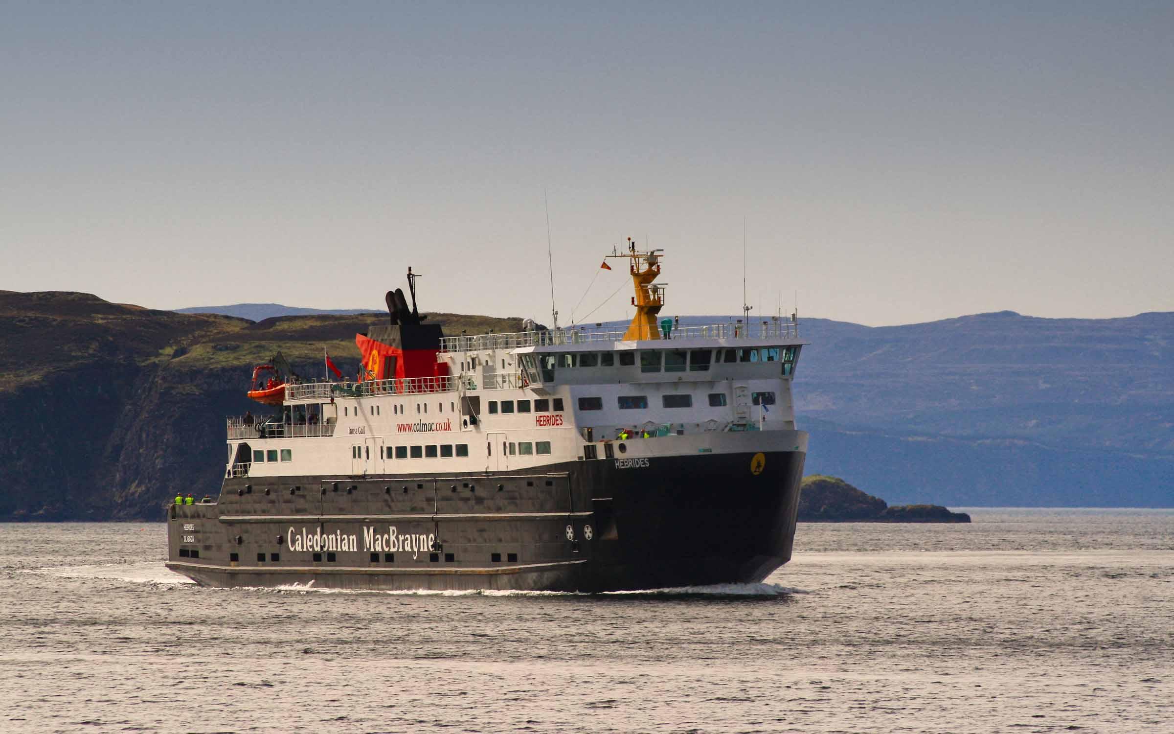 Hebrides in Uig Bay (Ships of CalMac)