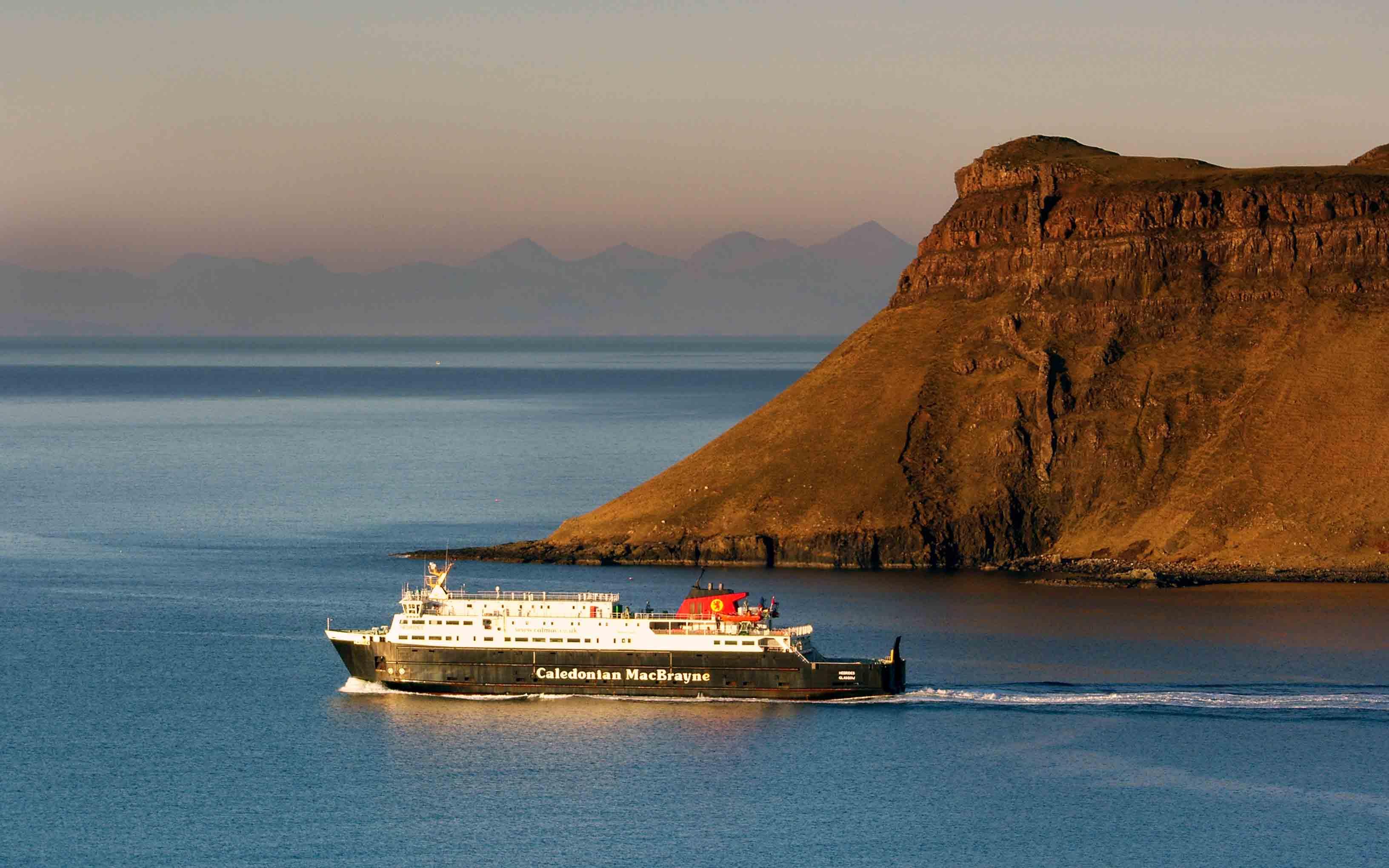 Hebridesn leaving Uig Bay (Ships of CalMac)