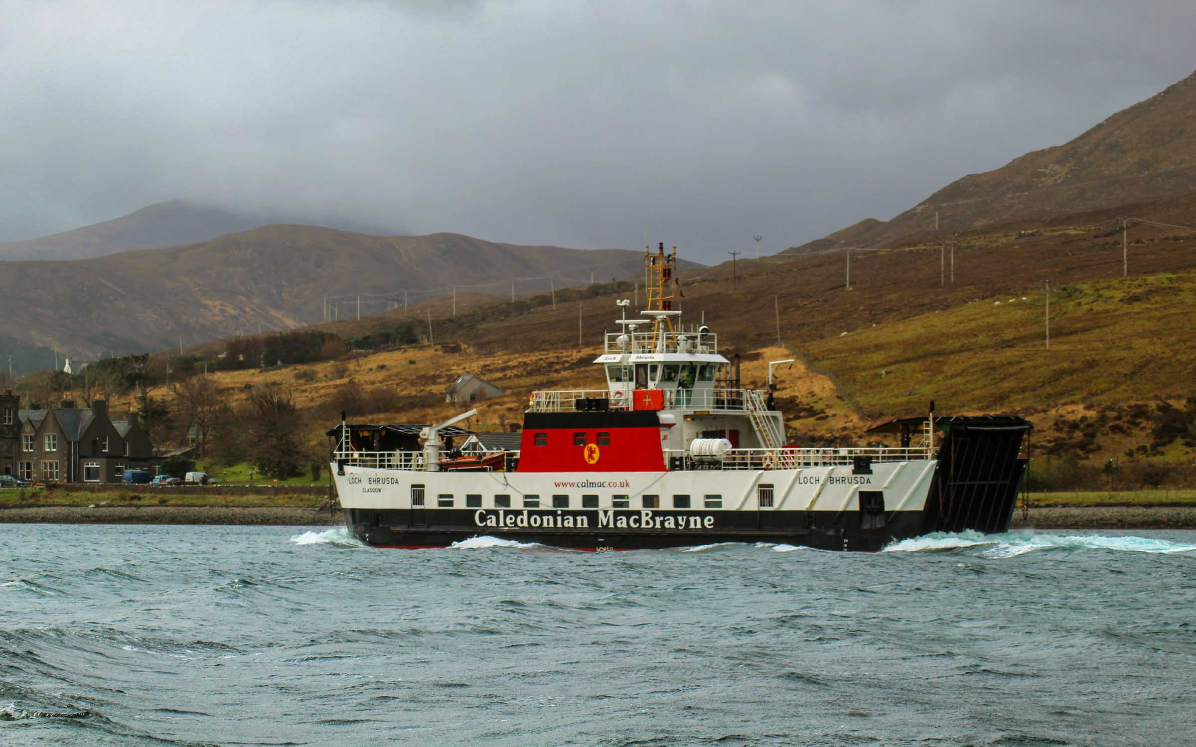Loch Bhrusda on relief leaving Sconser (Ships of CalMac)