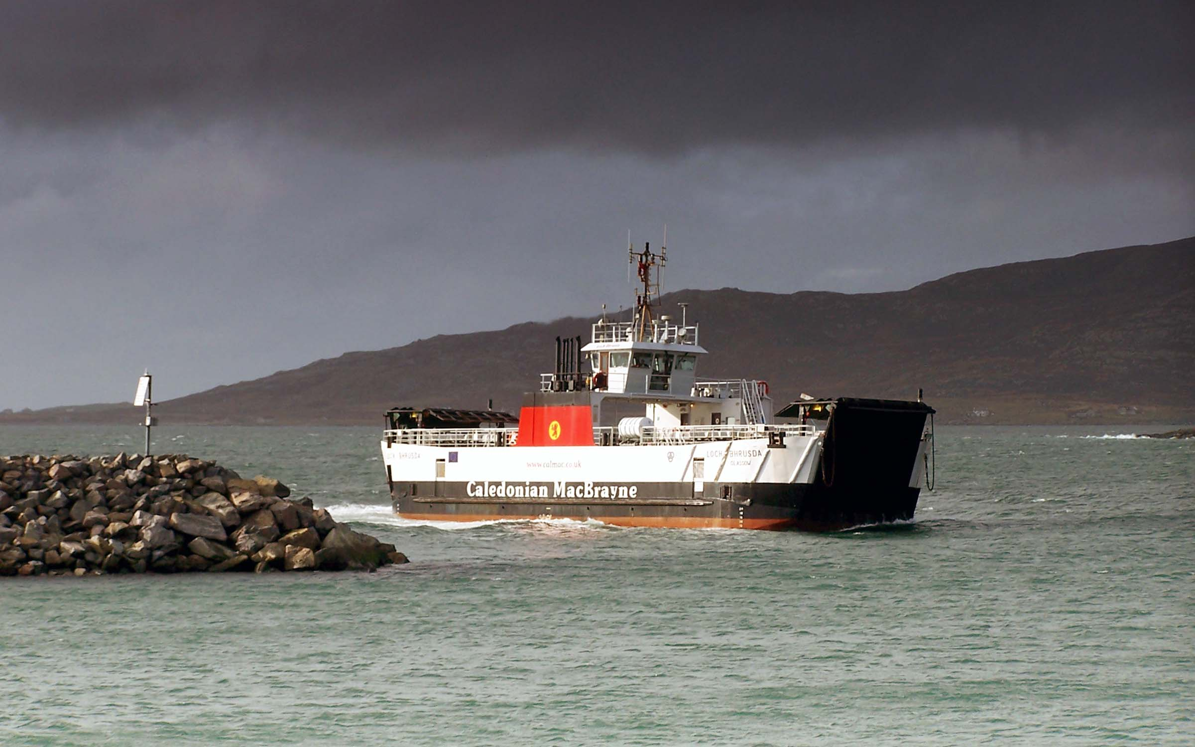 Loch Bhrusda arriving at Eriskay (Ships of CalMac)