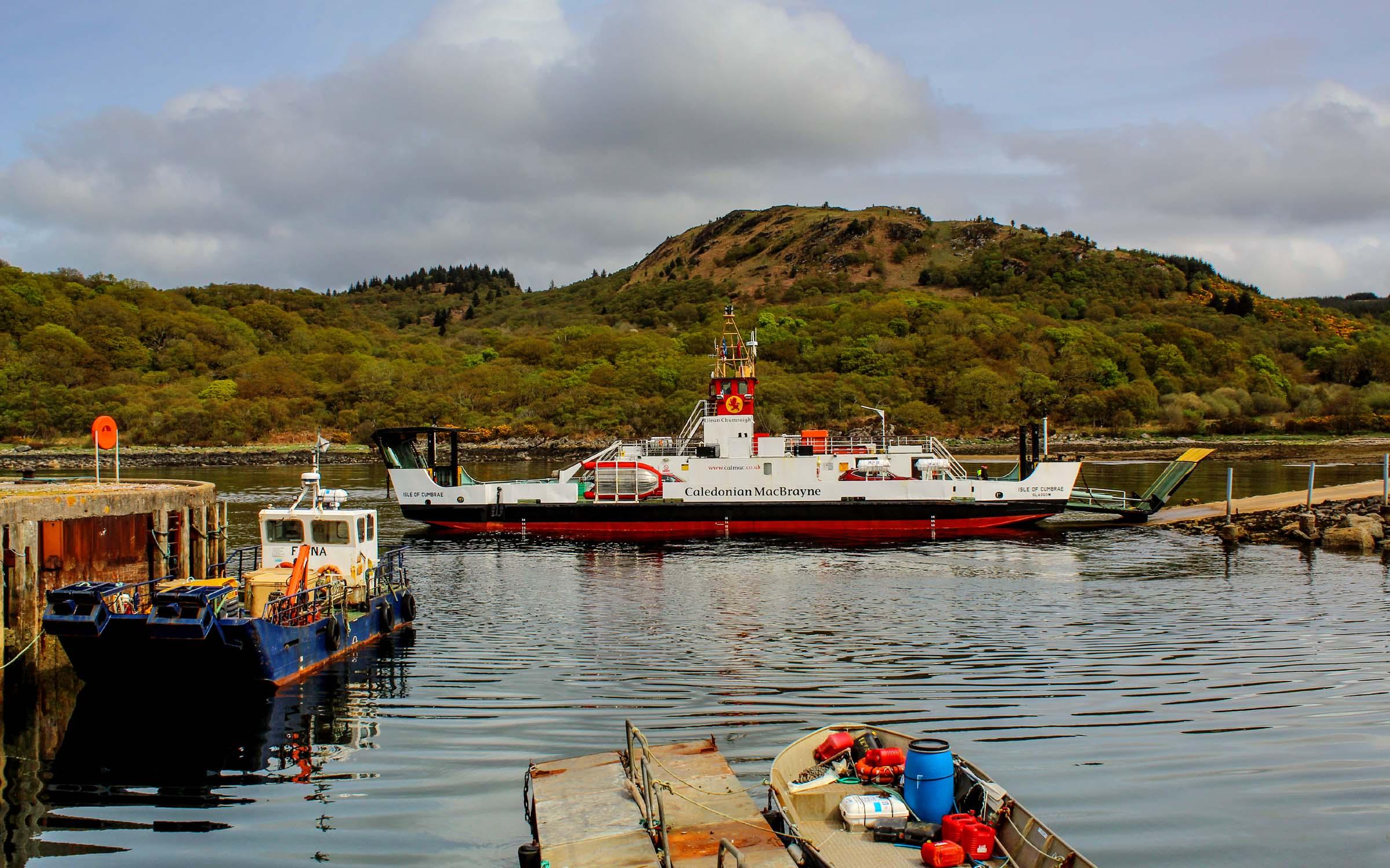 Isle of Cumbrae back in service at Portavadie (Ships of CalMac)