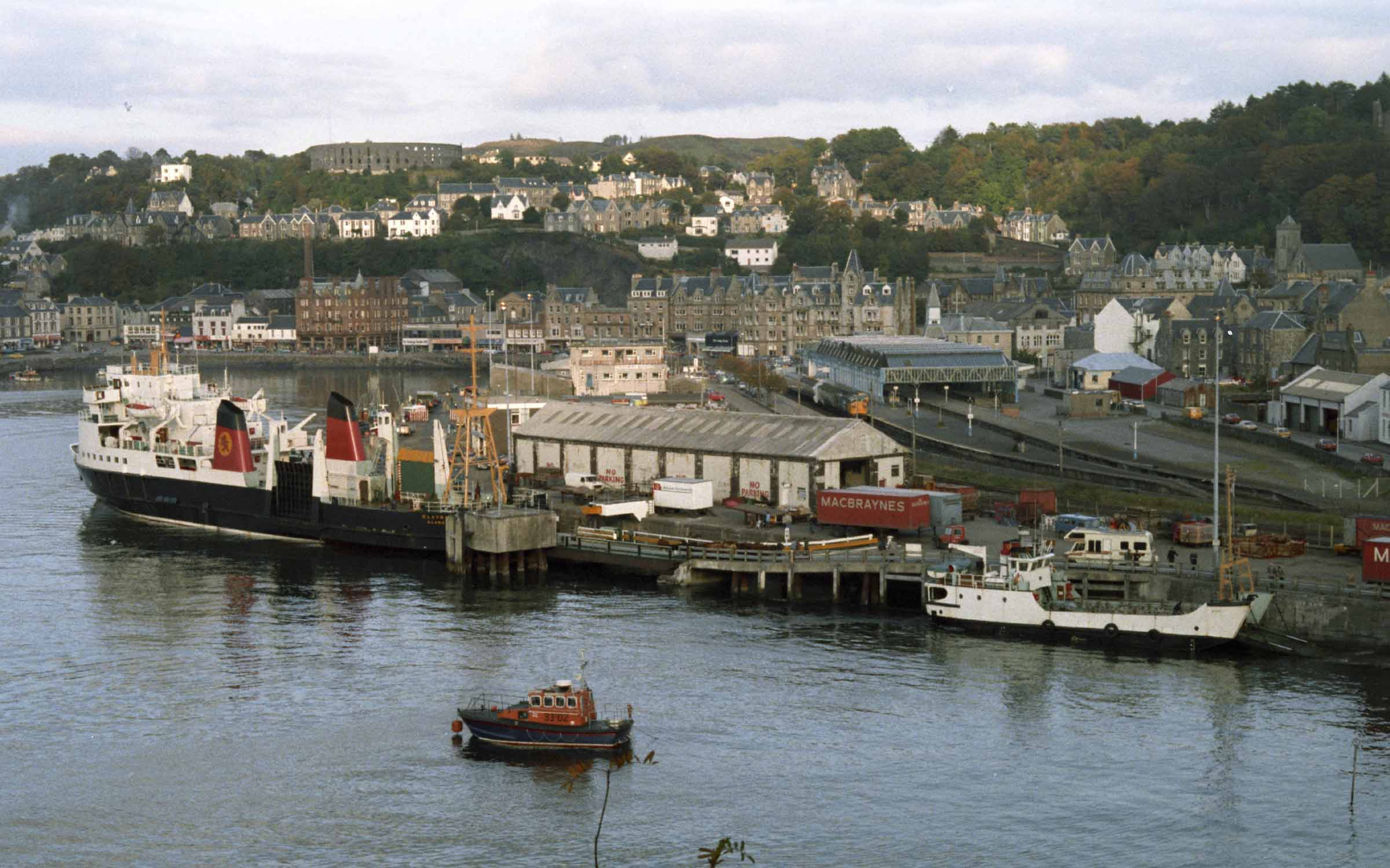 Claymore and Eigg at Oban in the 1980s (Ships of CalMac)