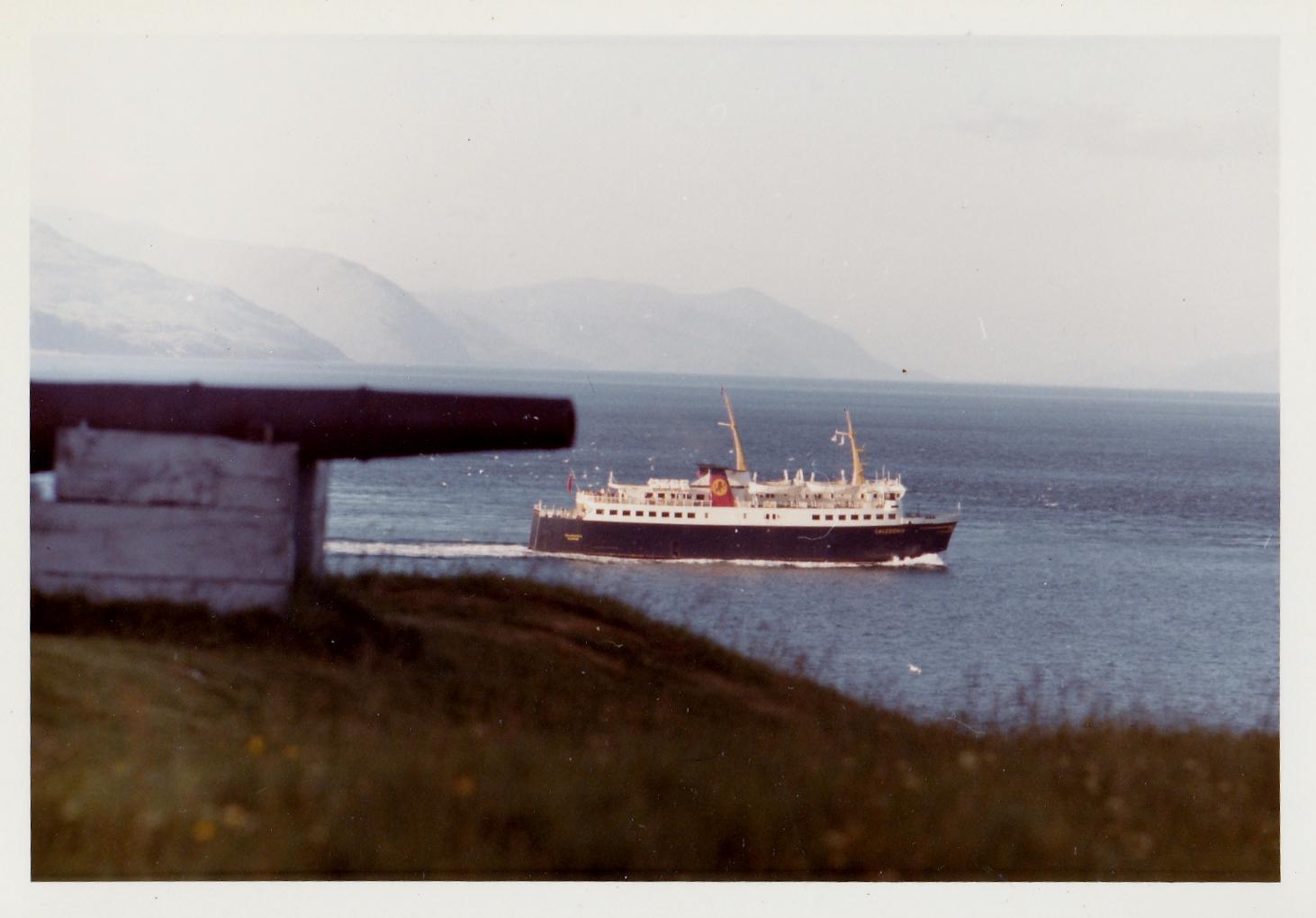 Caledonia passing Duart Castle (Jim Aikman Smith)