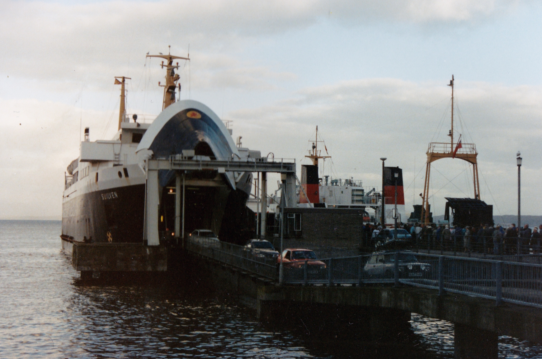 Rare visitor Suilven unloading at Craignure (Jim Aikman Smith)