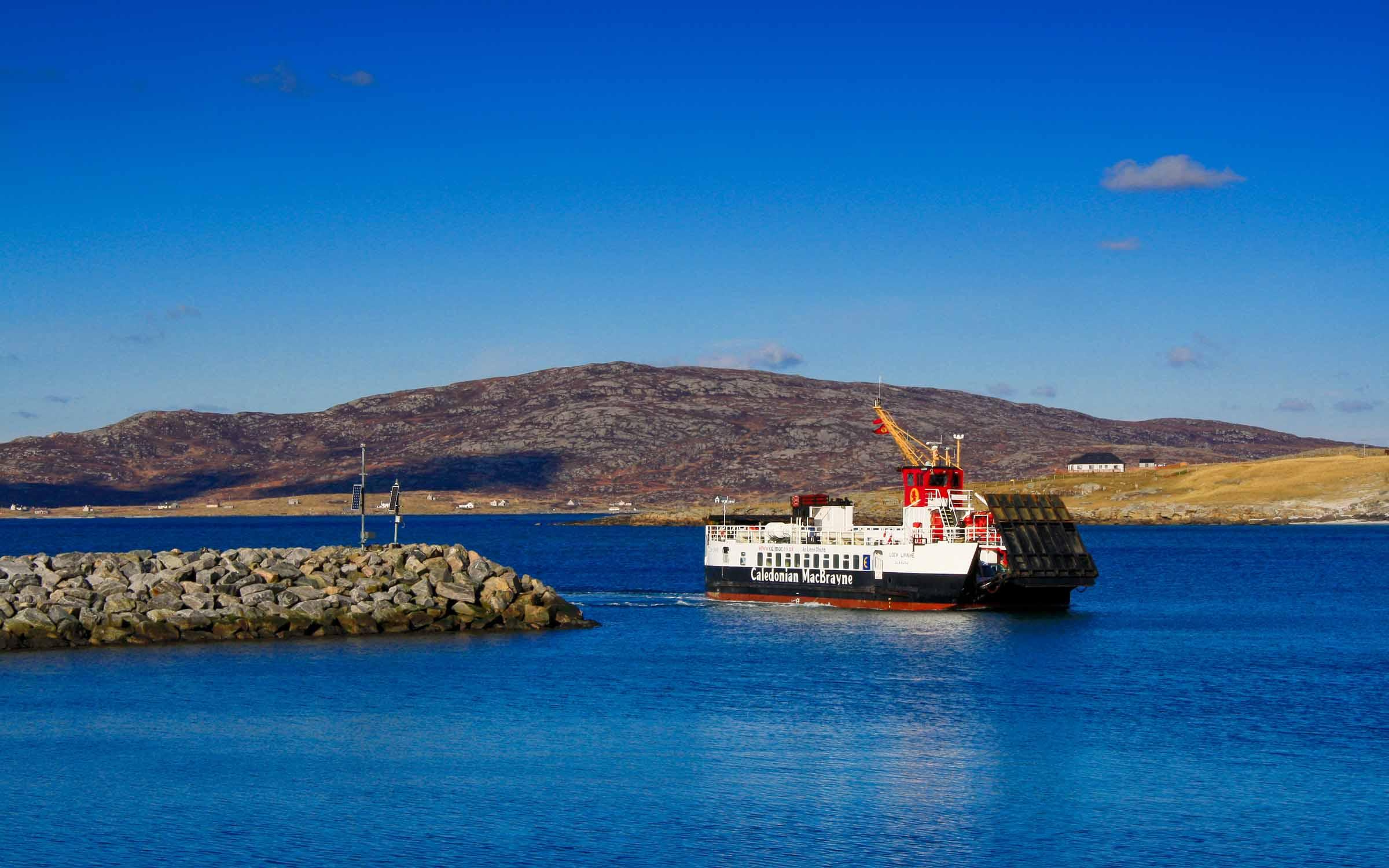 Loch Linnhe arriving at Eriskay (Ships of CalMac)