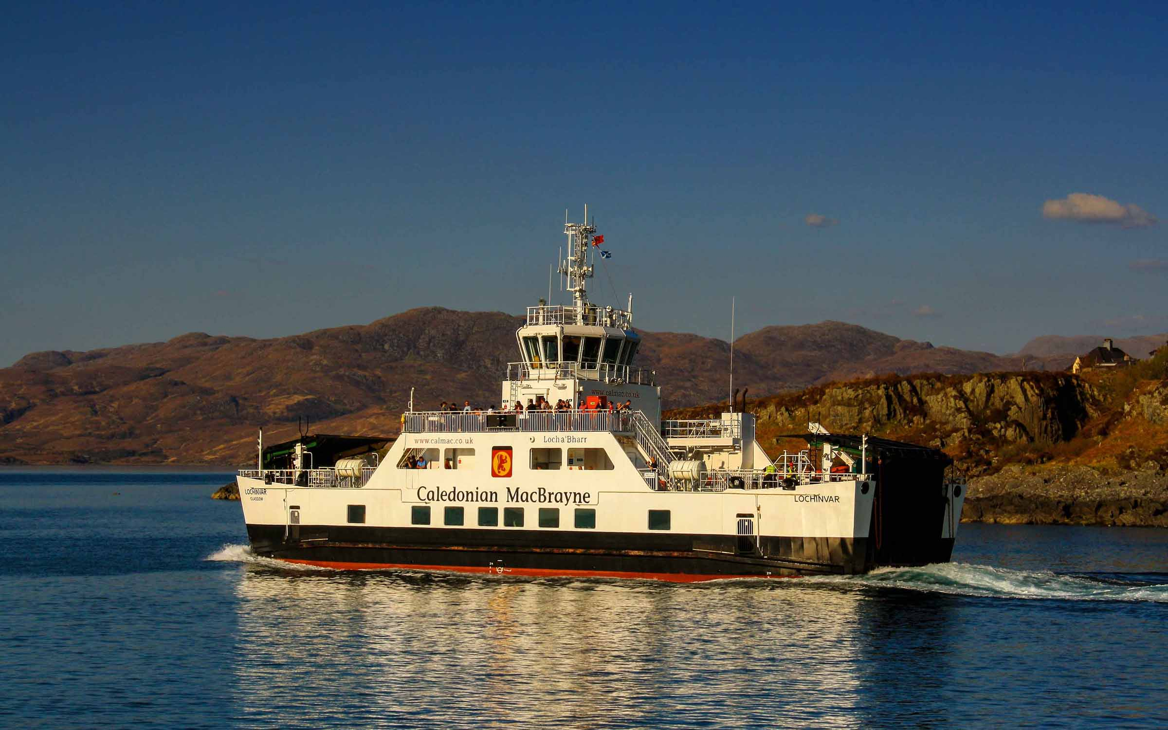 Lochinvar leaving Mallaig (Ships of CalMac)