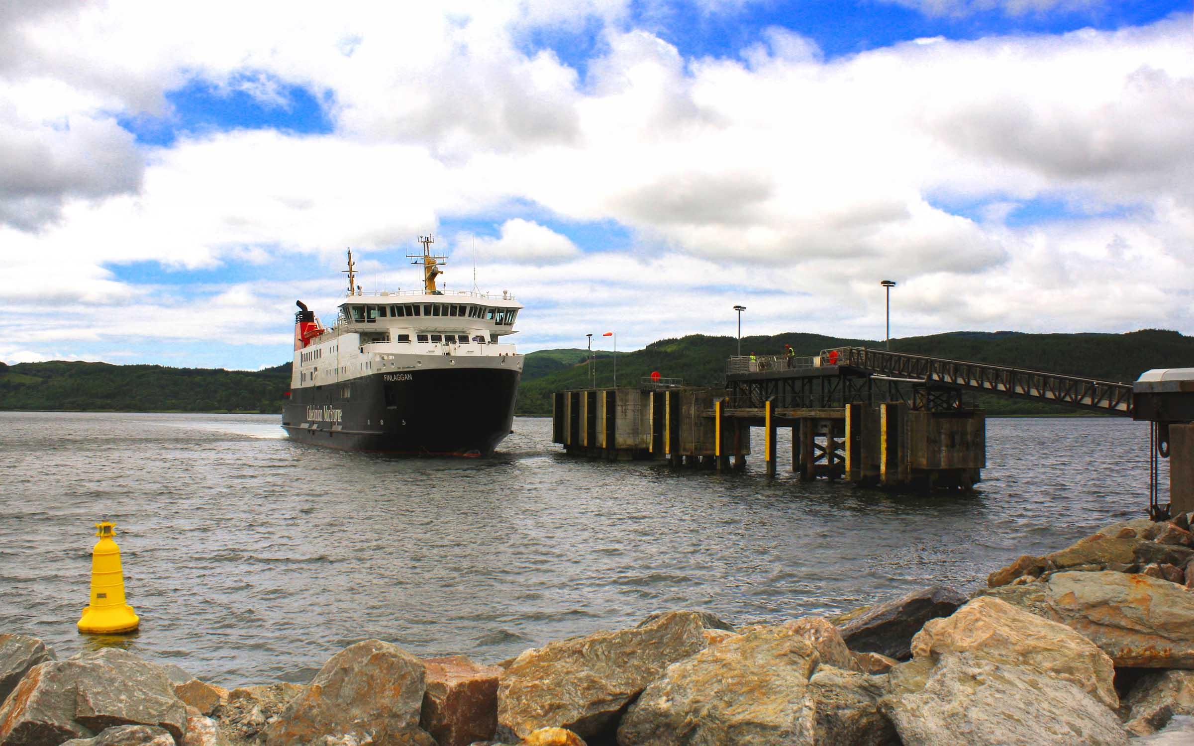 Finlaggan arriving at Kennacraig (Ships of CalMac)