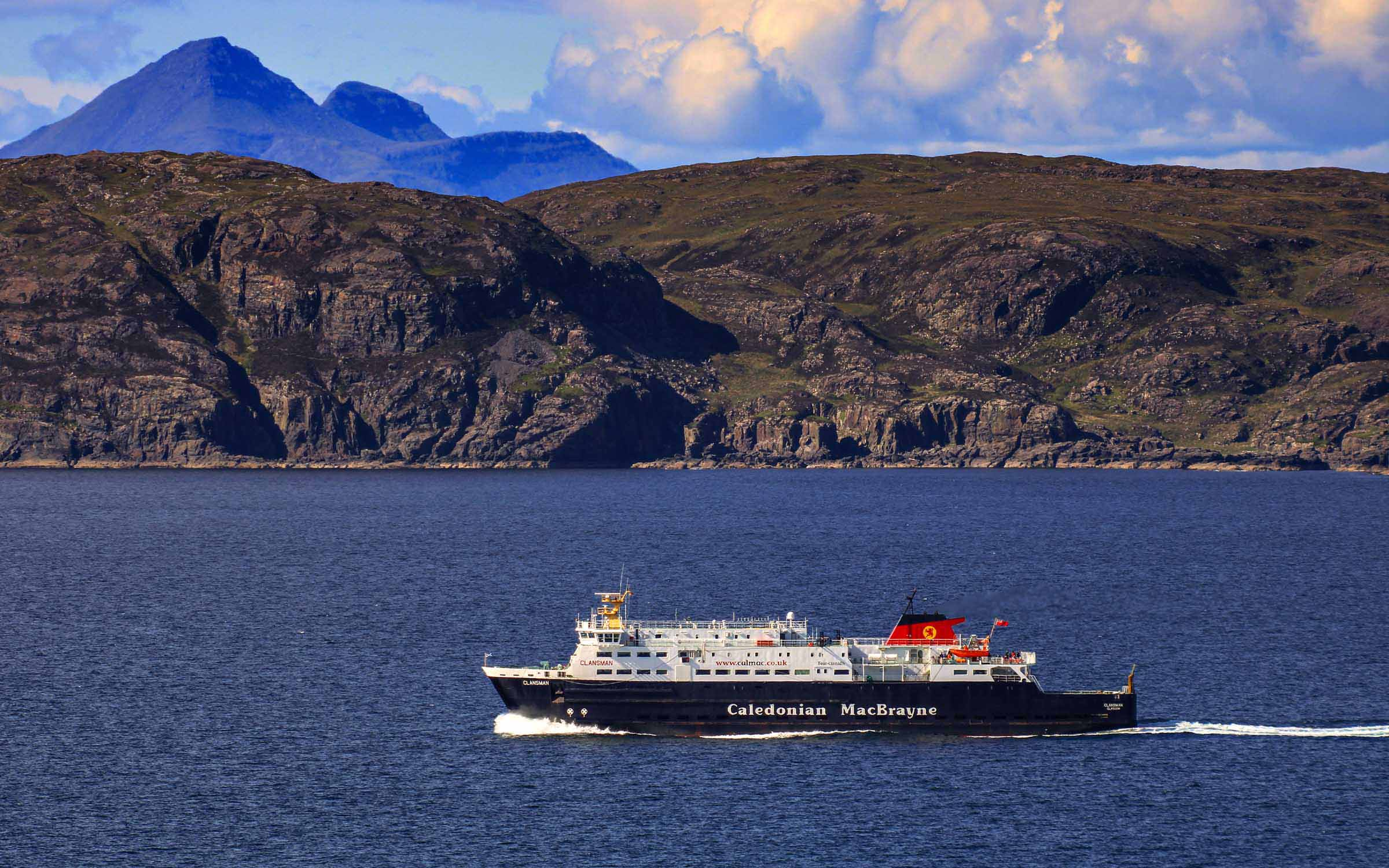 Clansman leaving the Sound of Mull en route for Coll (Ships of CalMac)