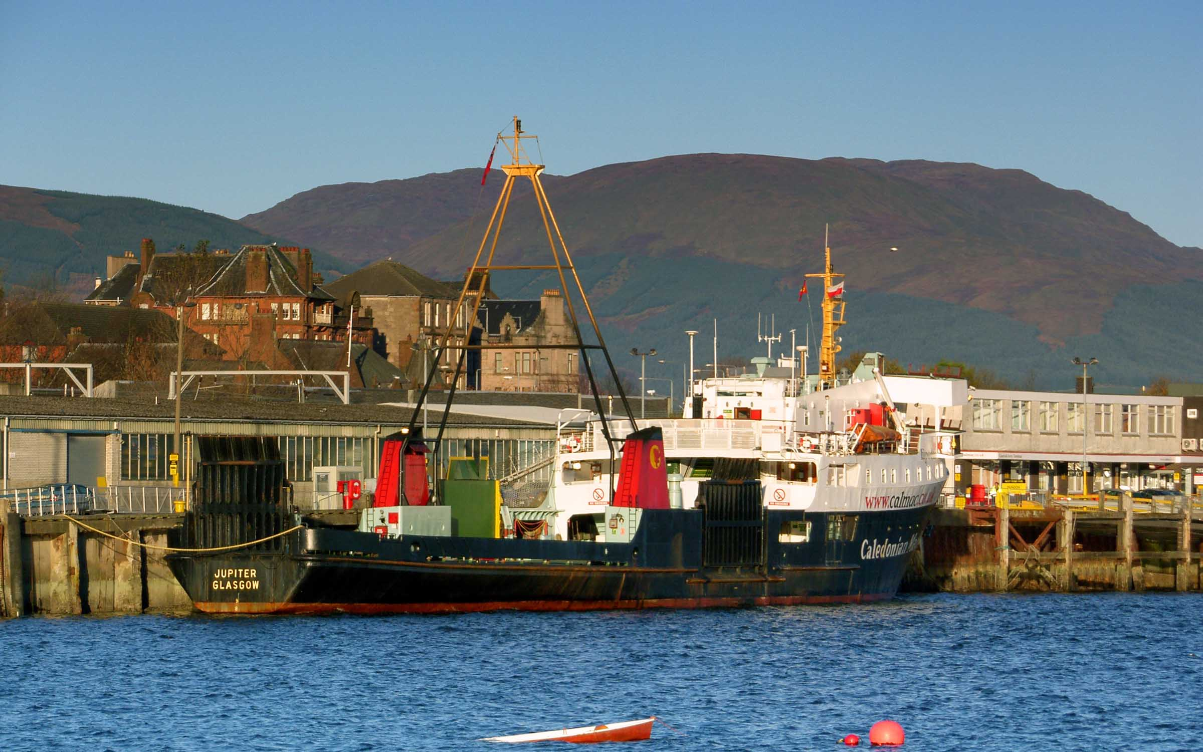 Jupiter lying at Gourock pier (Ships of CalMac)