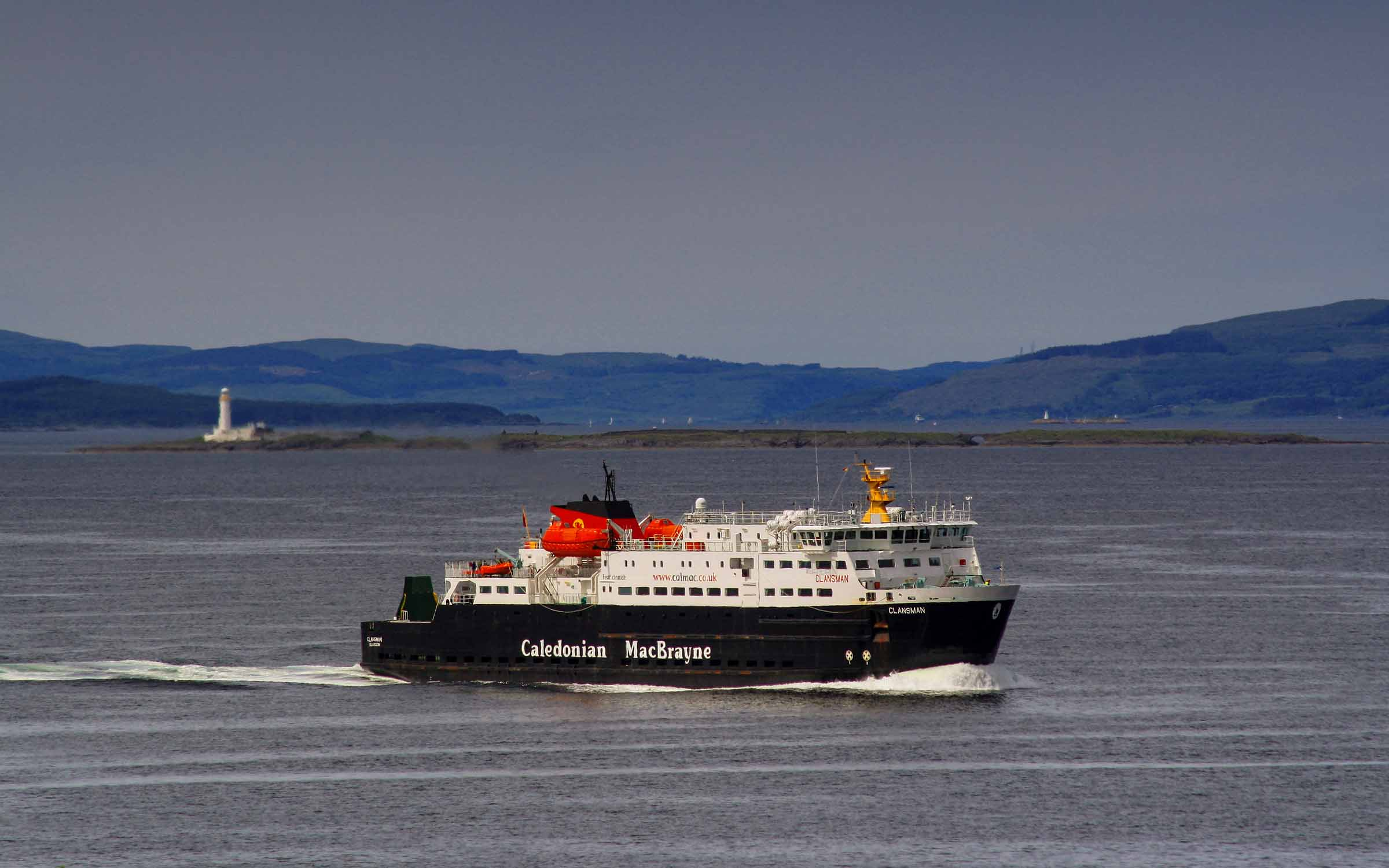 Clansman inbound for Oban from Colonsay (Ships of CalMac)