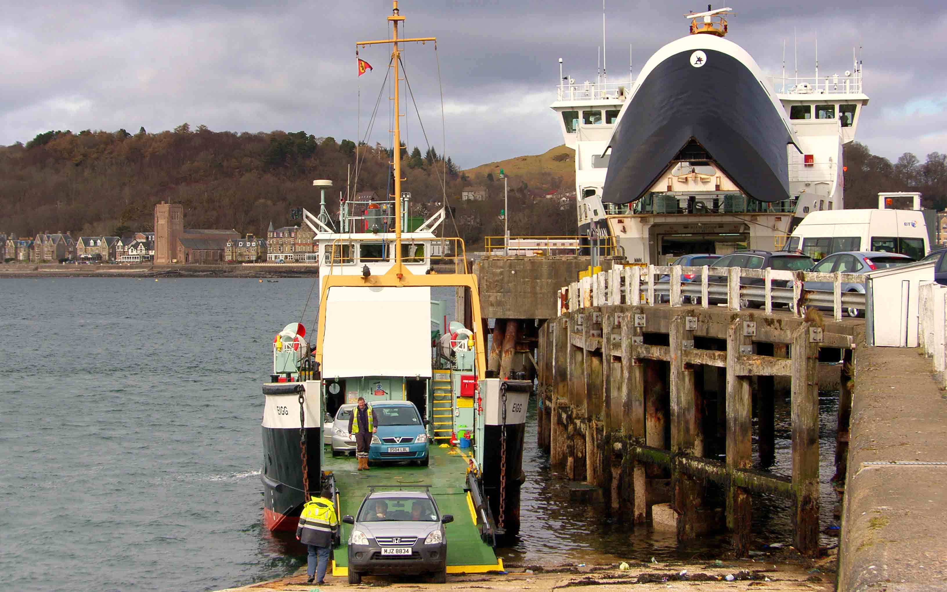 Eigg loading at Oban (Ships of CalMac)