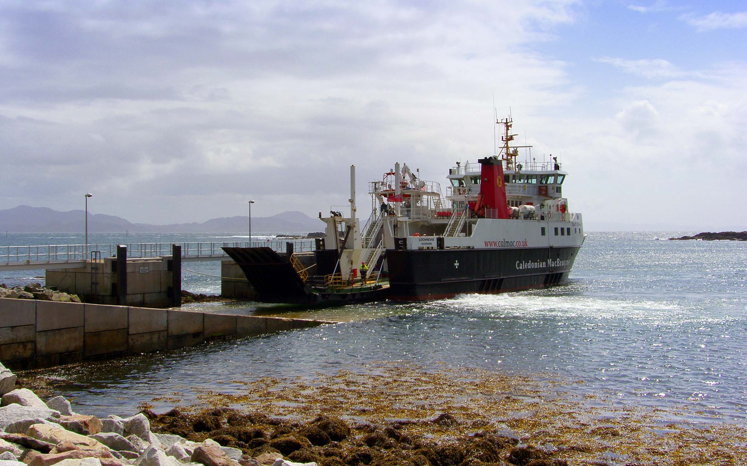 Lochnevis at Muck (Ships of CalMac)