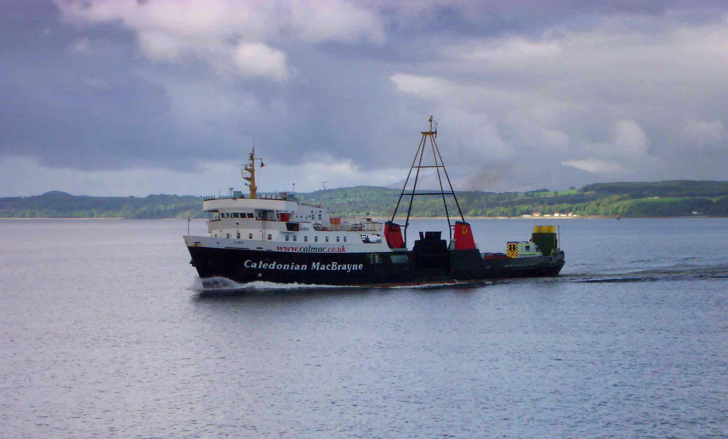 Juno approaching Wemyss Bay (Ships of CalMac)