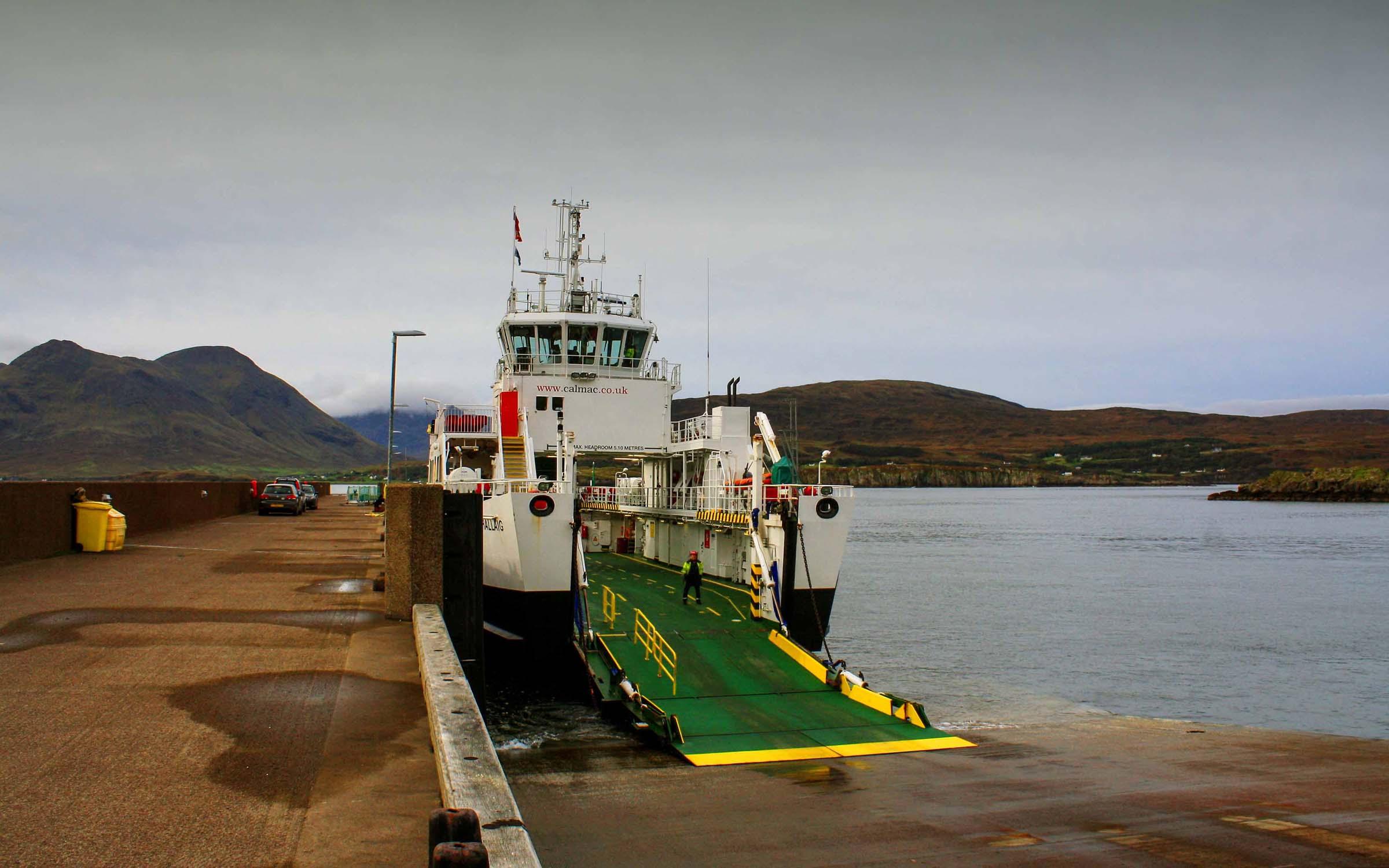 Hallaig alongside at Raasay (Ships of CalMac)