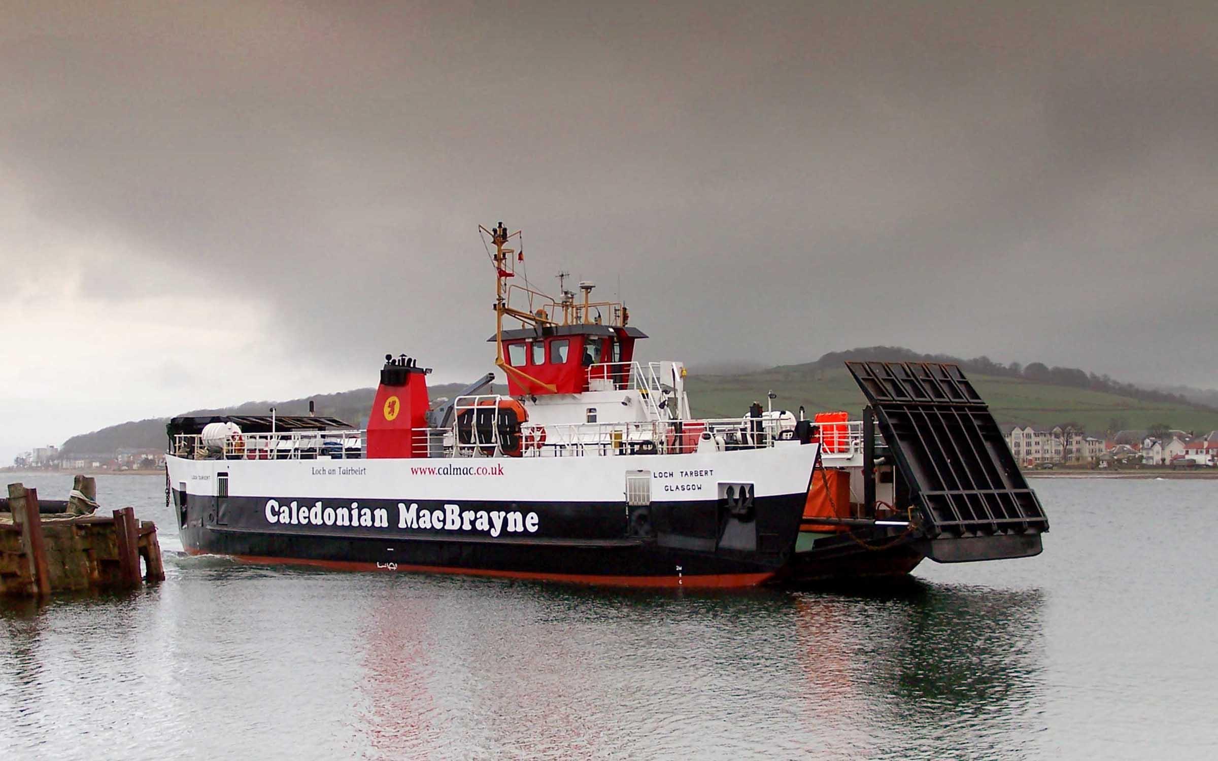 Loch Tarbert arriving at Largs (Ships of CalMac)