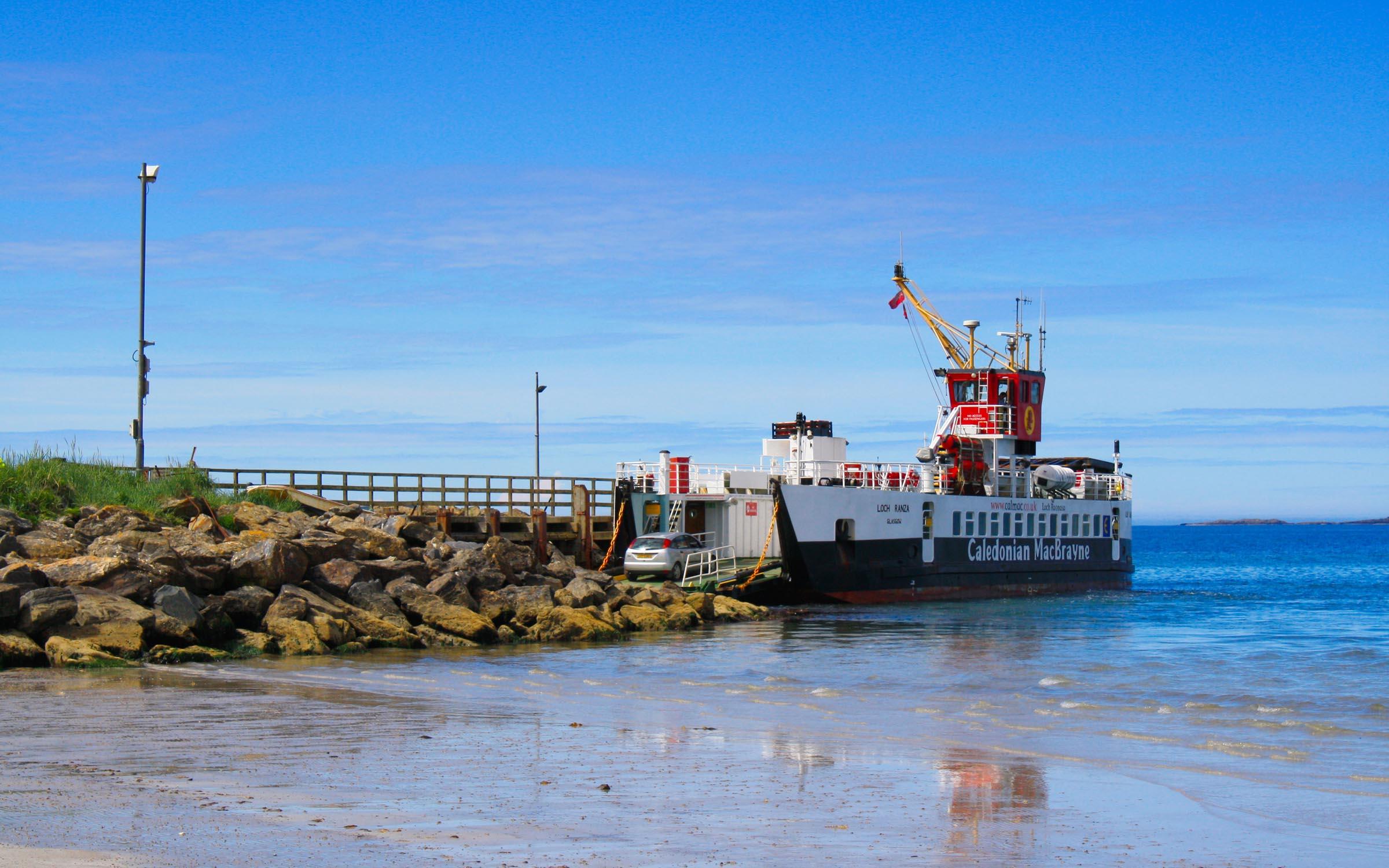 Loch Ranza loading for Gigha (Ships of CalMac)