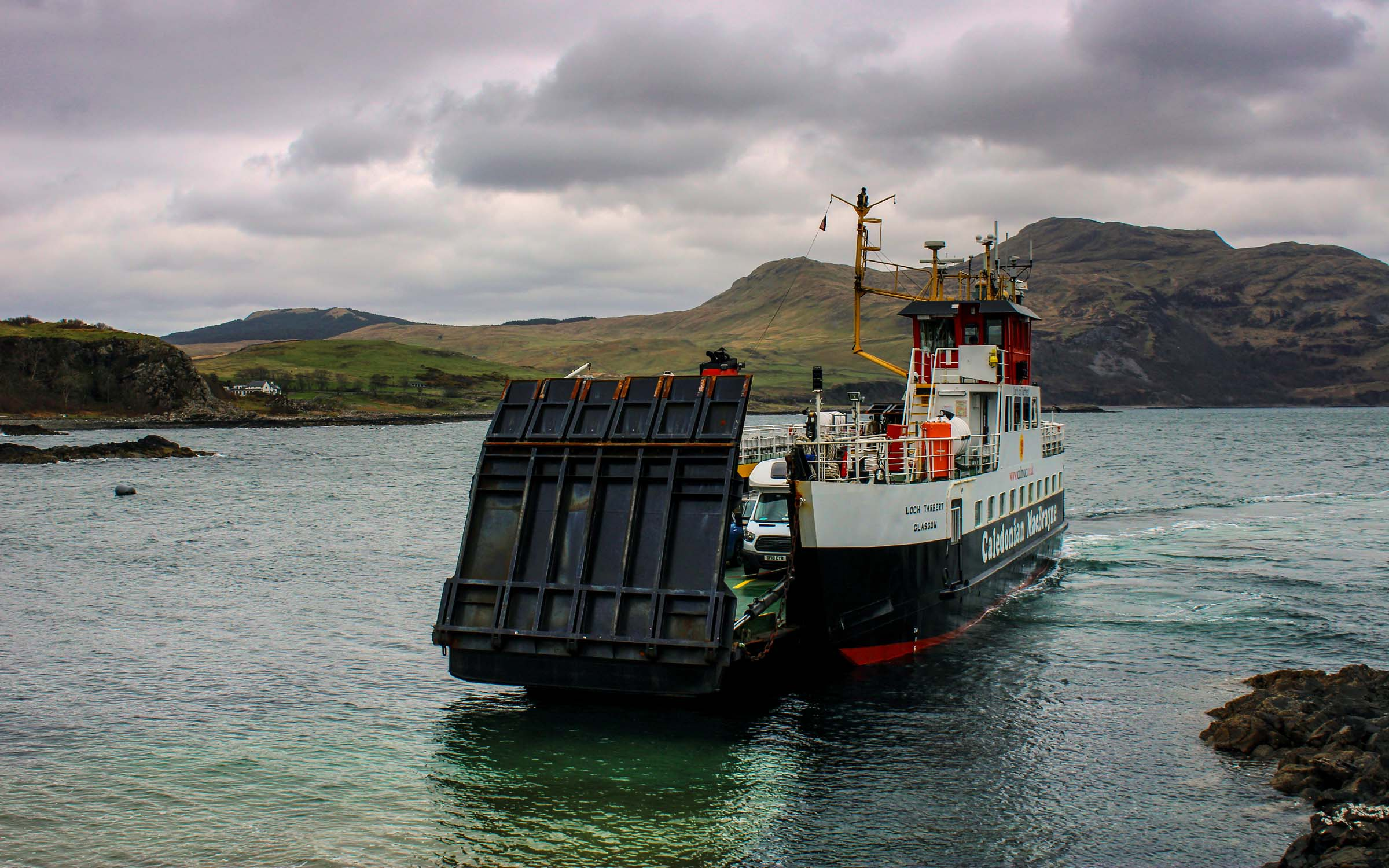 Loch Tarbert arriving at Kilchoan (Ships of CalMac)