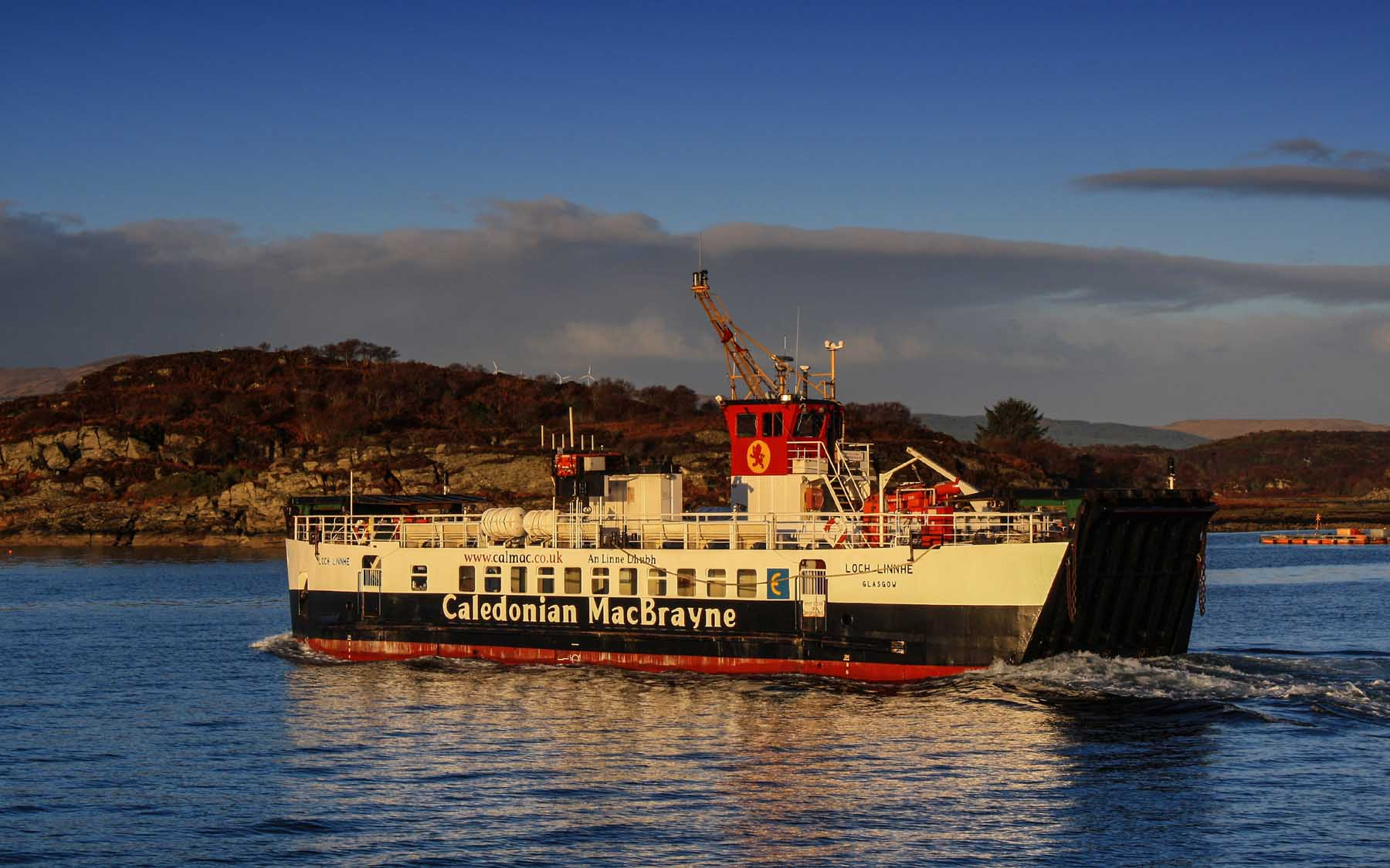 Loch Linnhe leaving Portavadie (Ships of CalMac)