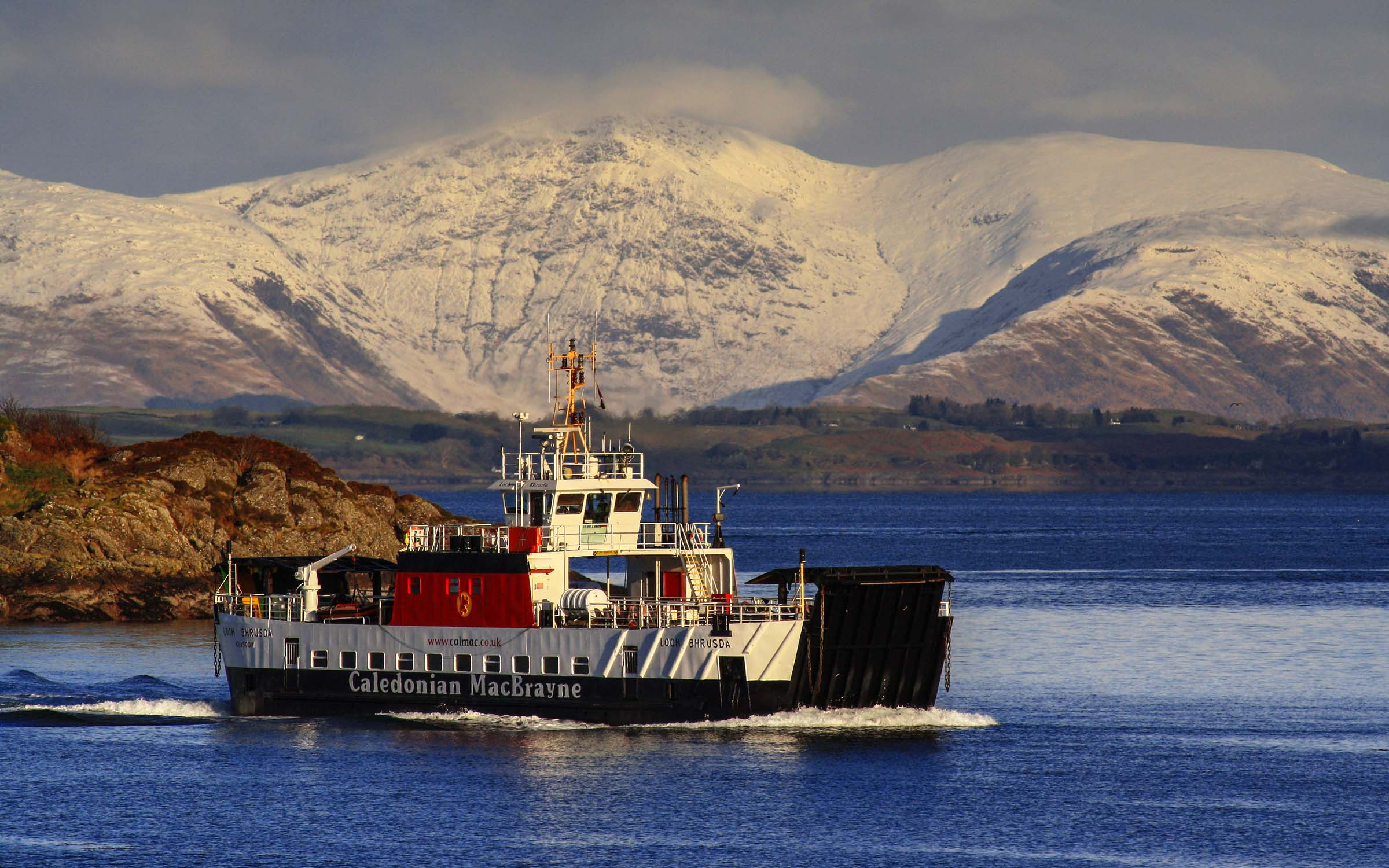 Loch Bhrusda on Lismore winter relief (Ships of CalMac)