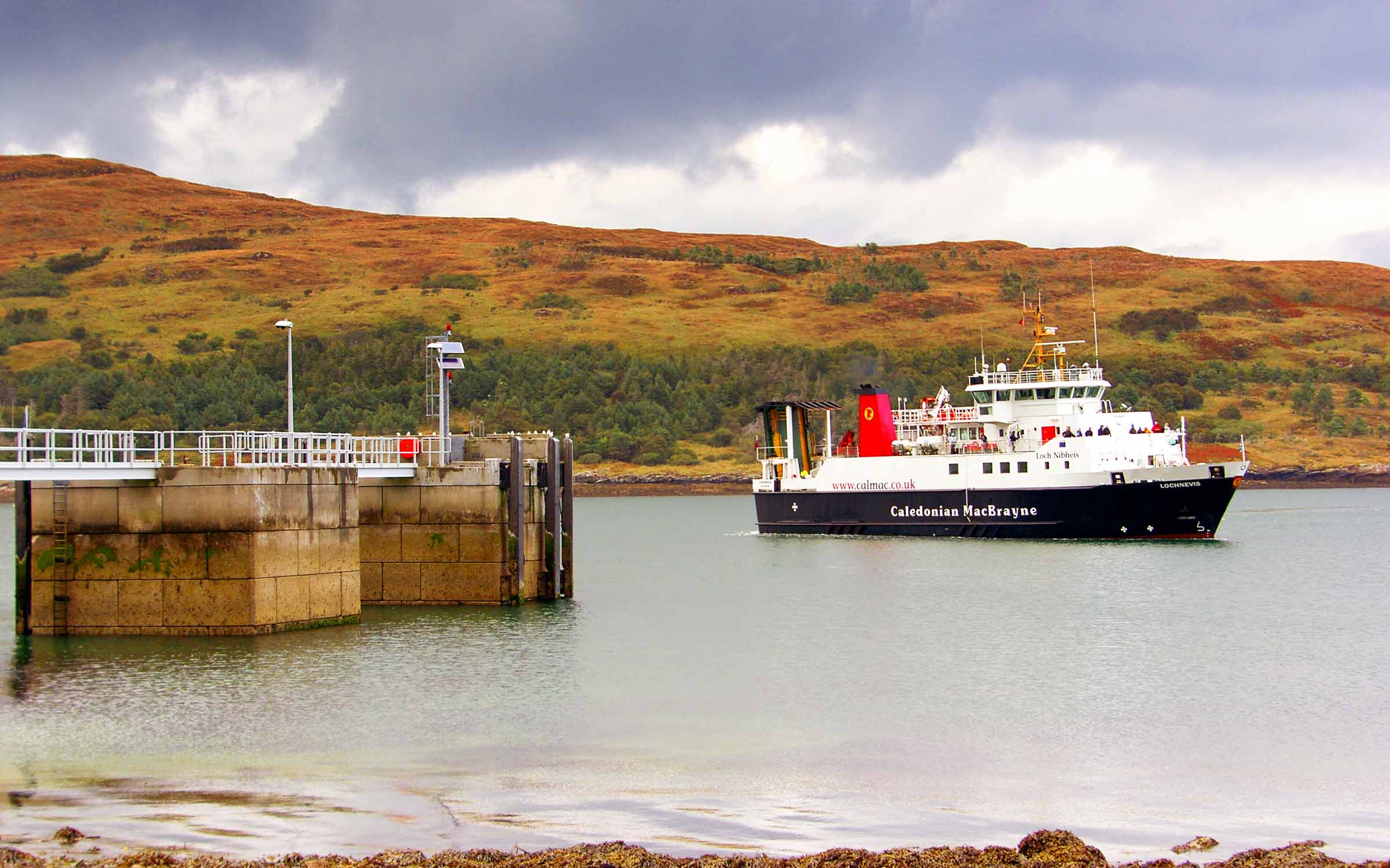 Lochnevis arriving at Rum (Ships of CalMac)