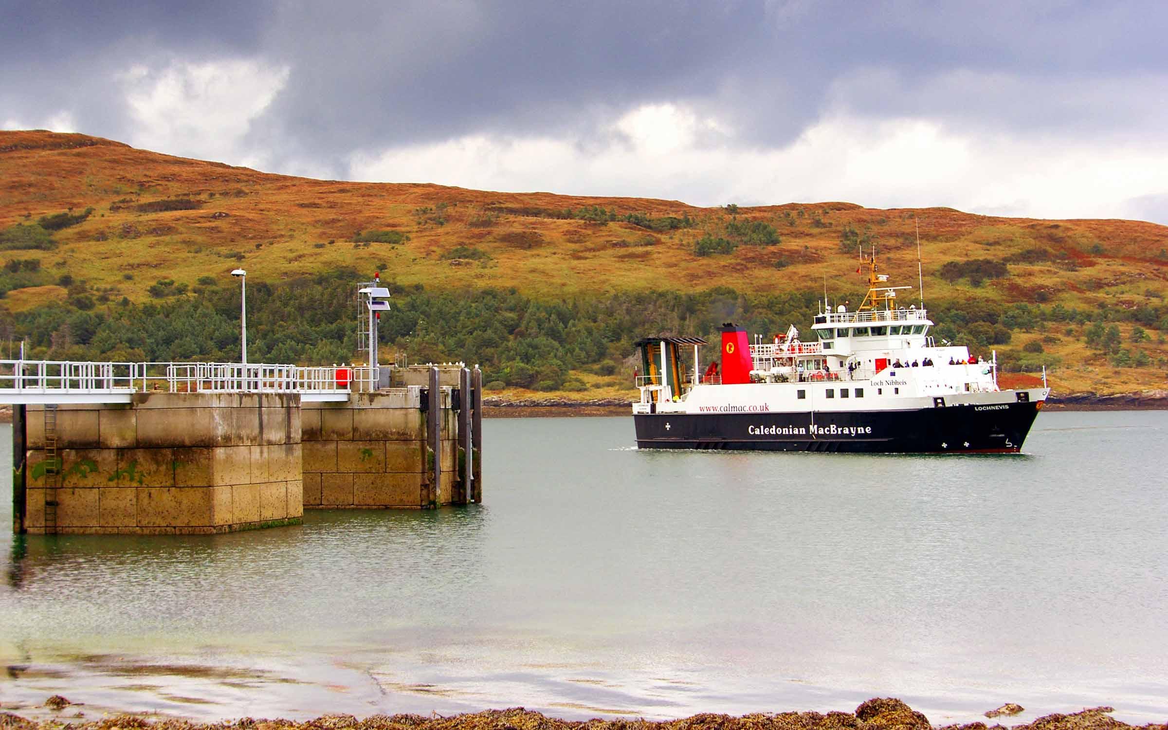 Lochnevis arriving at Rum (Ships of CalMac)