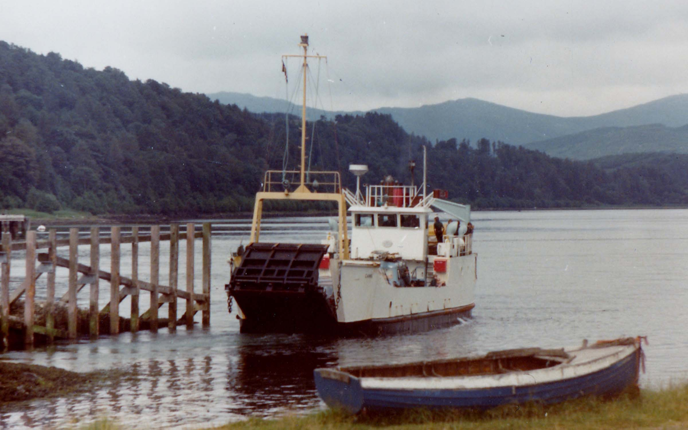 Canna leaving Lochaline (Jim Aikman Smith)