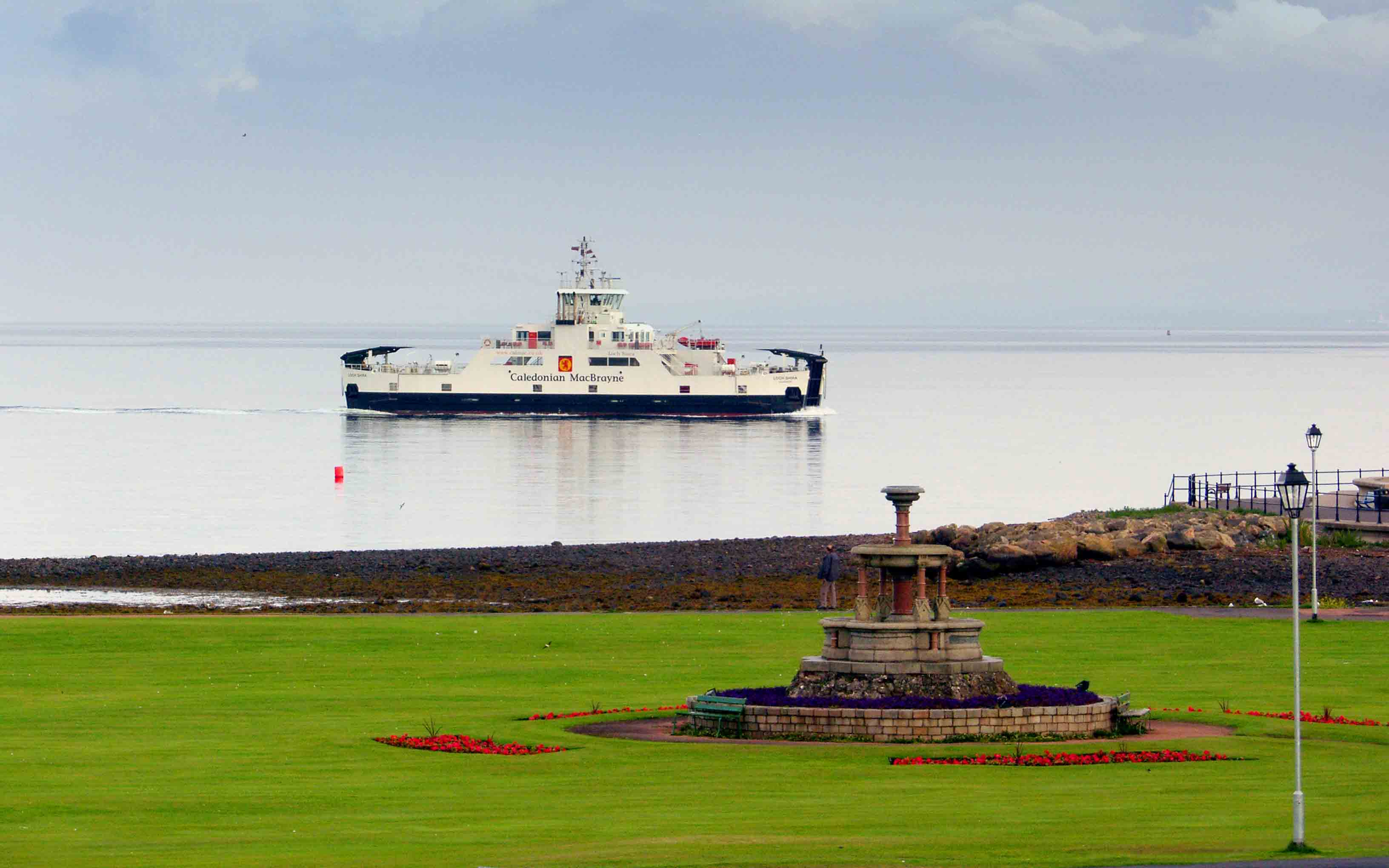Loch Shira approaching Largs (Ships of CalMac)