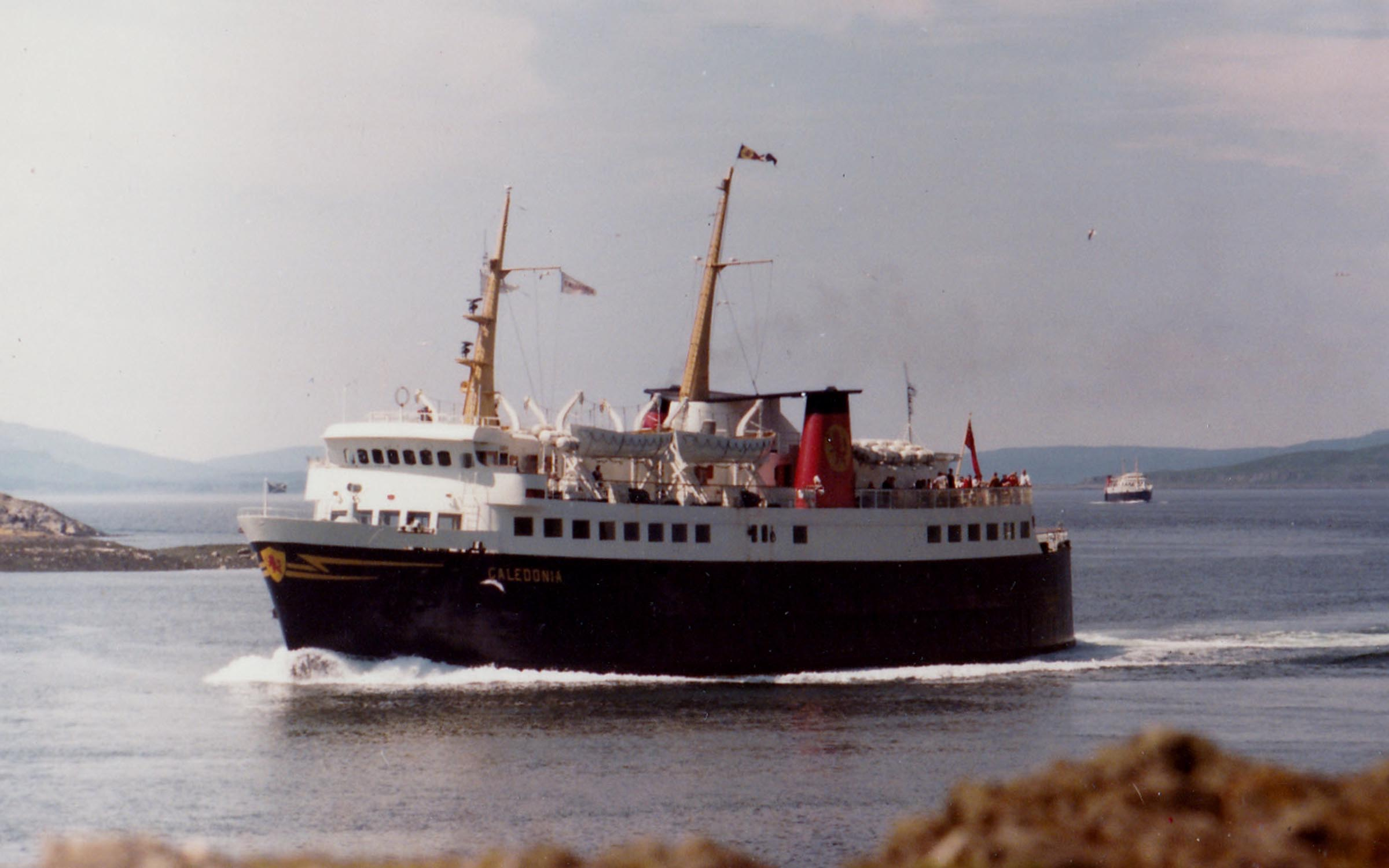 Caledonia entering Oban Bay with Iona following (Jim Aikman Smith)