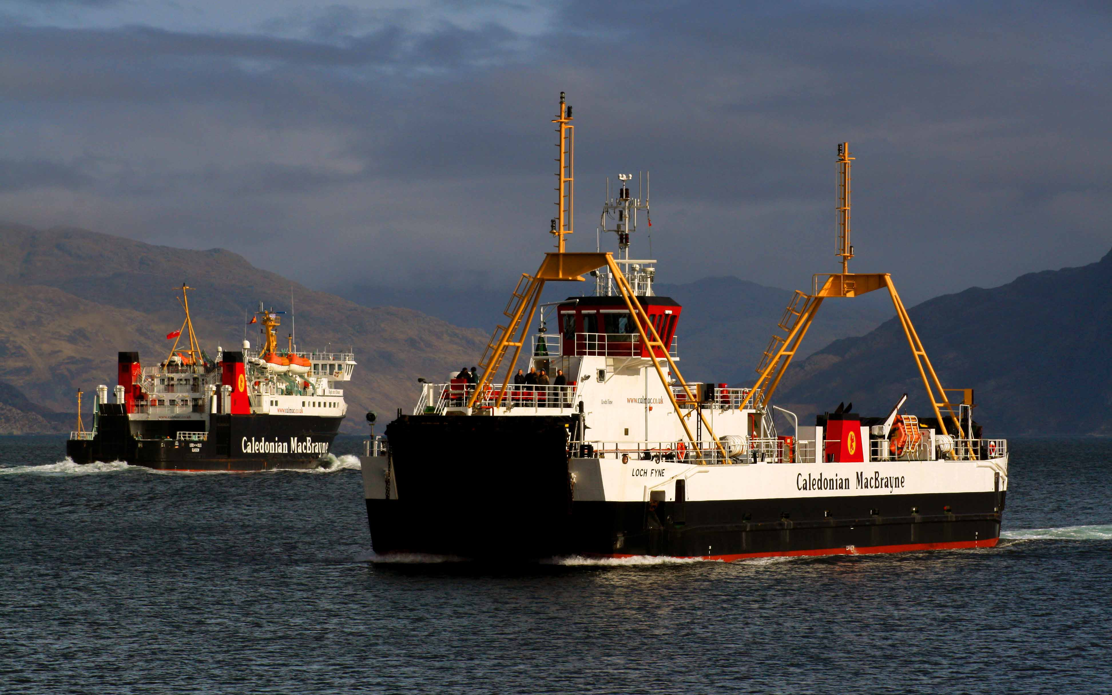 Lord of the Isles and Loch Fyne off Armadale (Ships of CalMac)