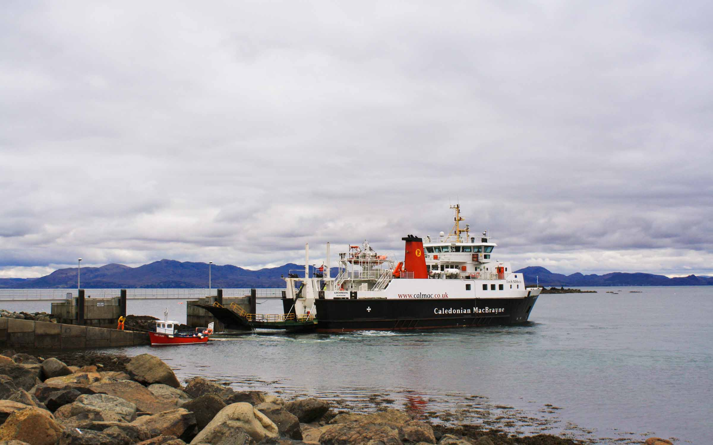 Lochnevis at Muck (Ships of CalMac)
