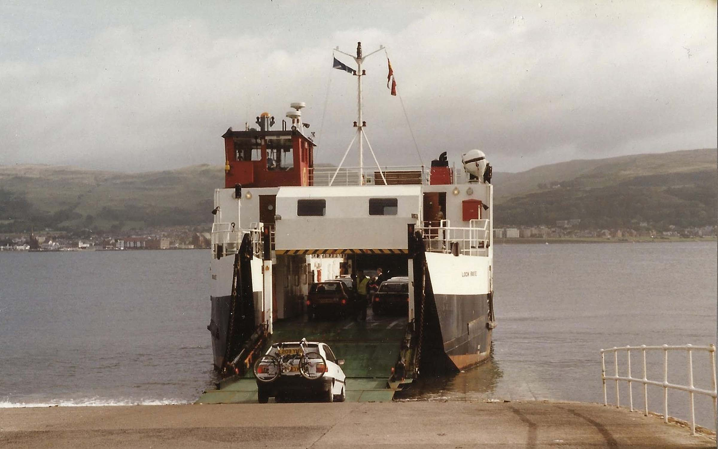 Loch Buie at Cumbrae Slip on emergency relief (Iain McPherson)