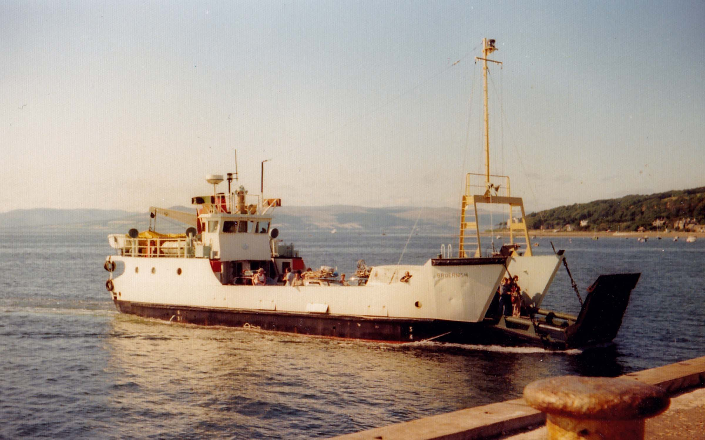 Bruernish arriving at Largs (Jim Aikman Smith)