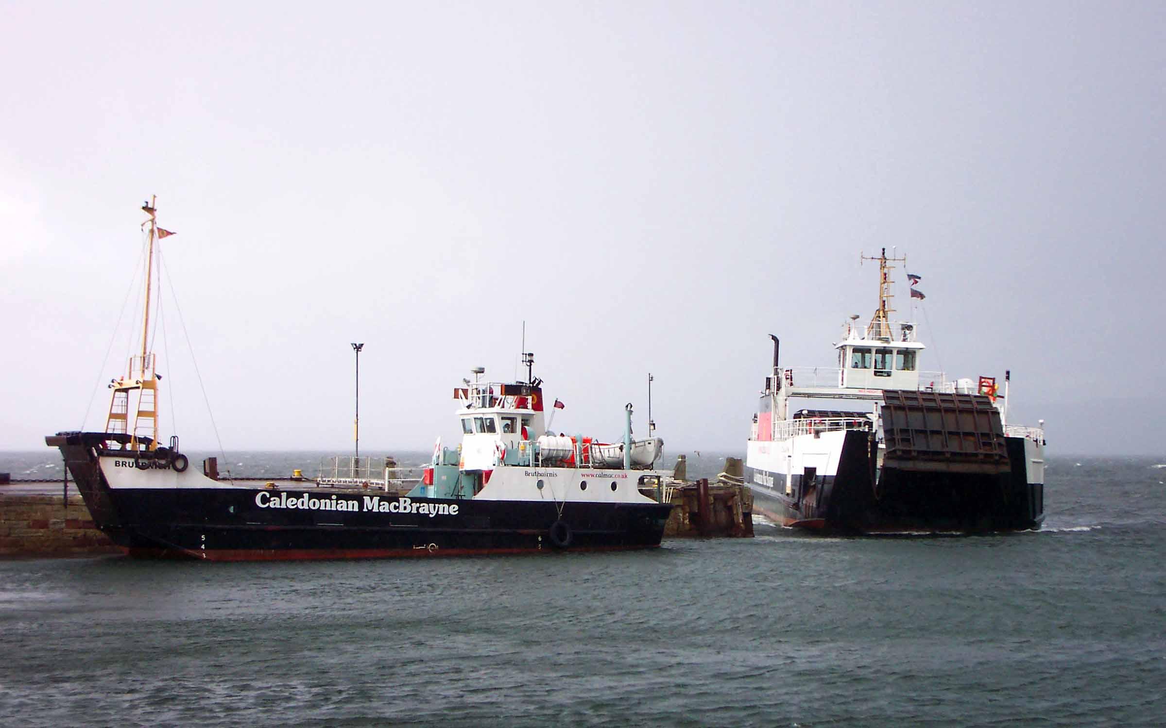 Bruernish and Loch Alainn at Largs (Ships of CalMac)