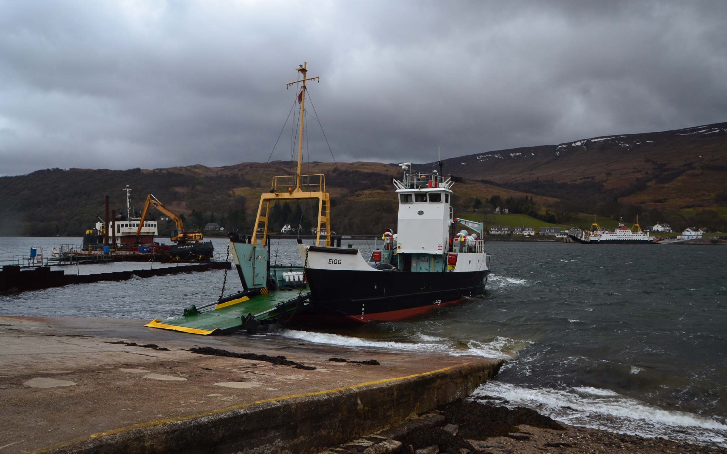 Eigg's last visit to Rhubodach prior to being sold (Ships of CalMac)