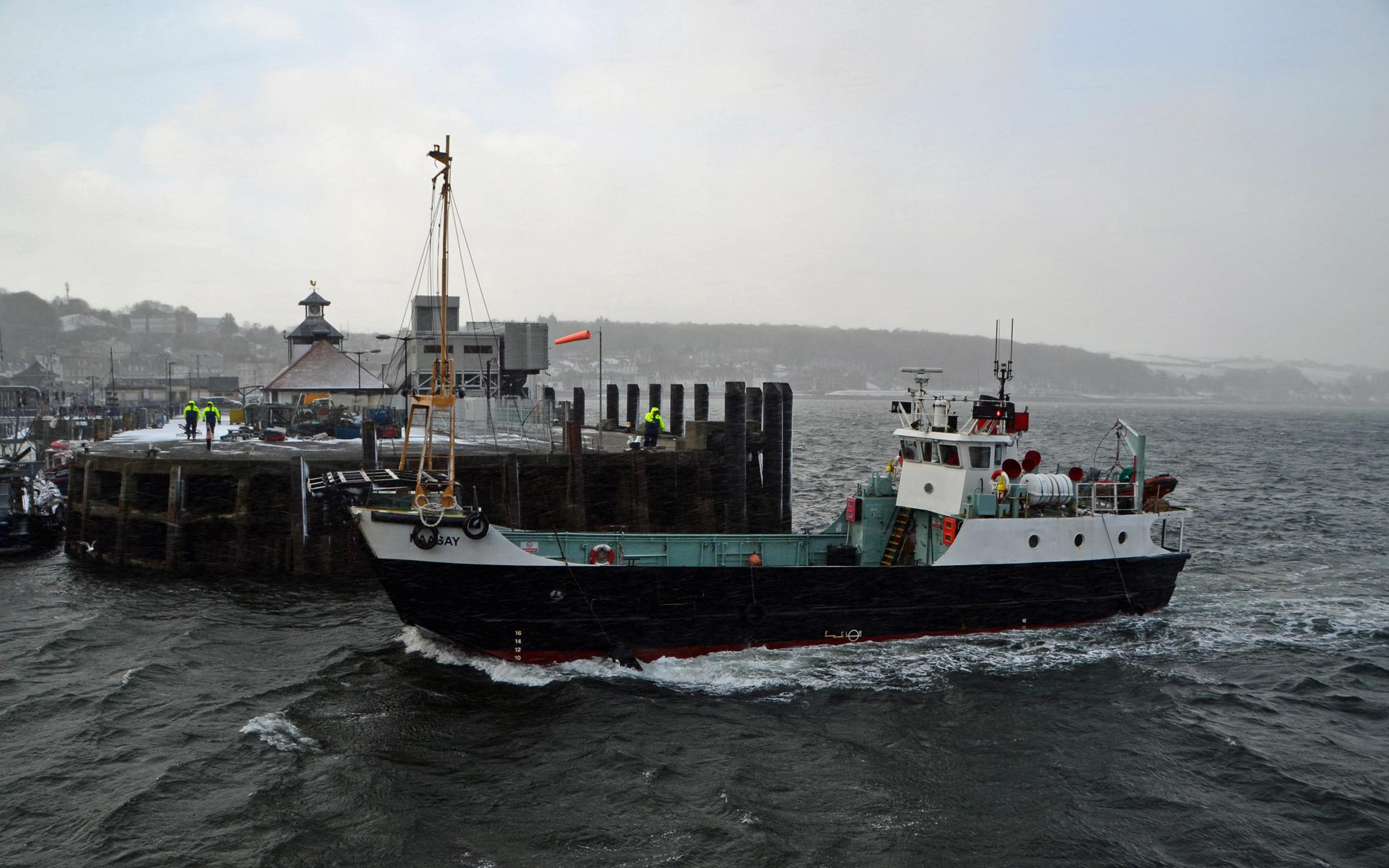 Raasay at Rothesay after her sale (Ships of CalMac)