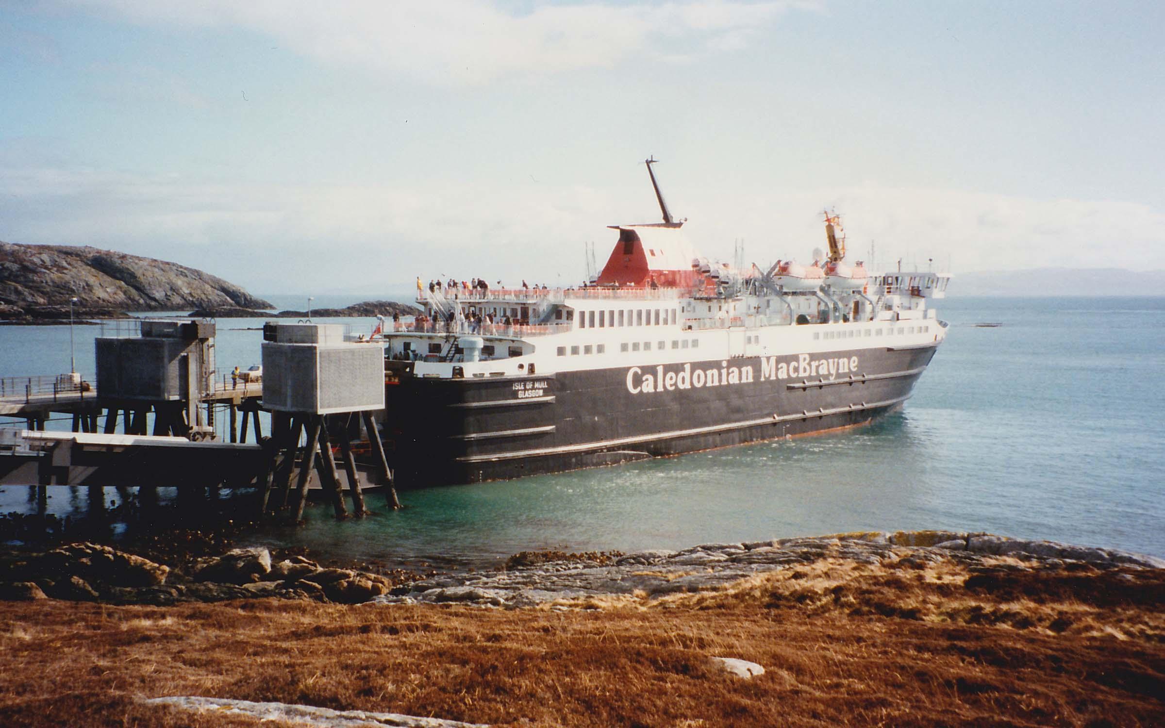 Isle of Mull alongside at Coll (Ships of CalMac)