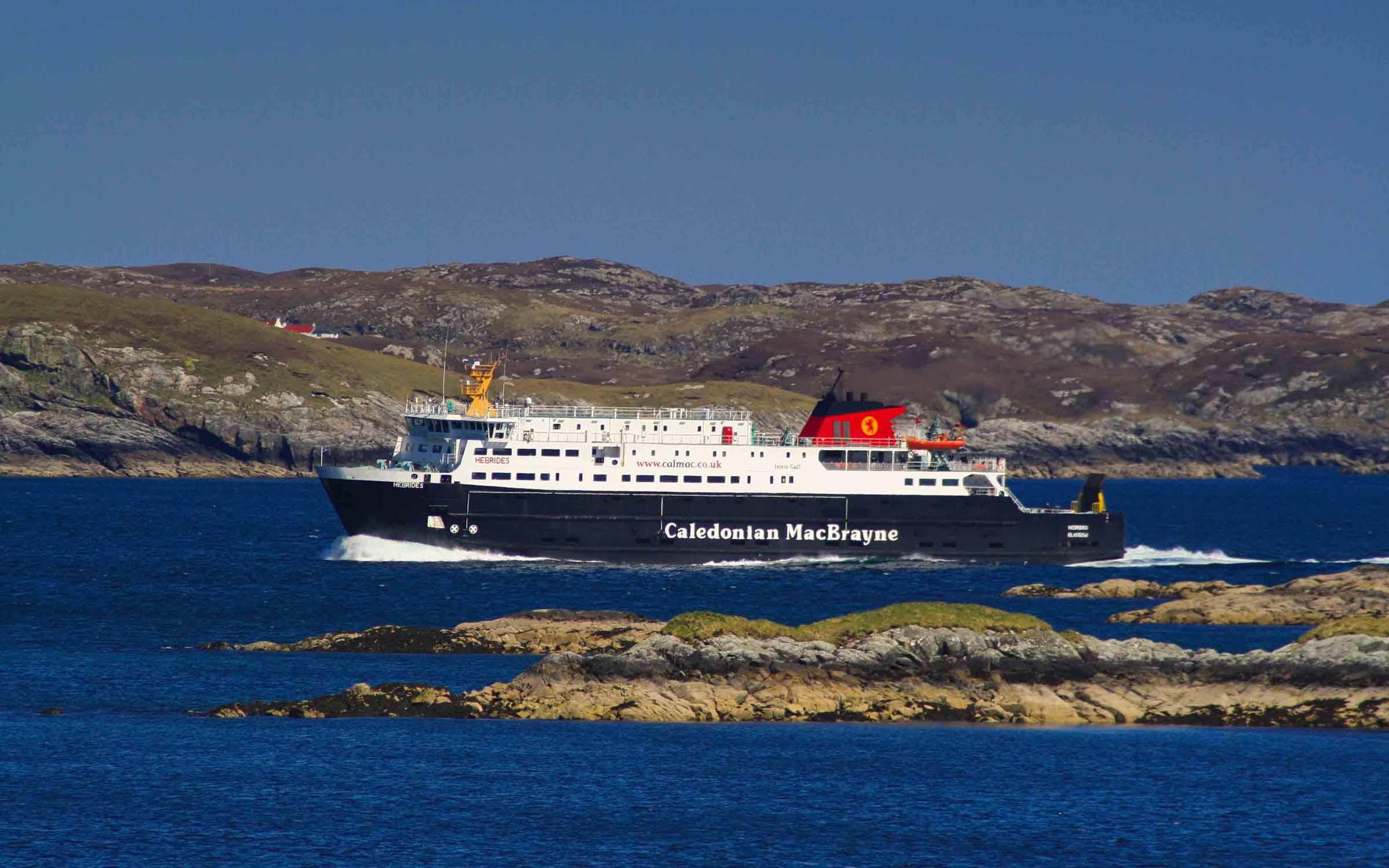 Hebrides passing Scalpay (Ships of CalMac)