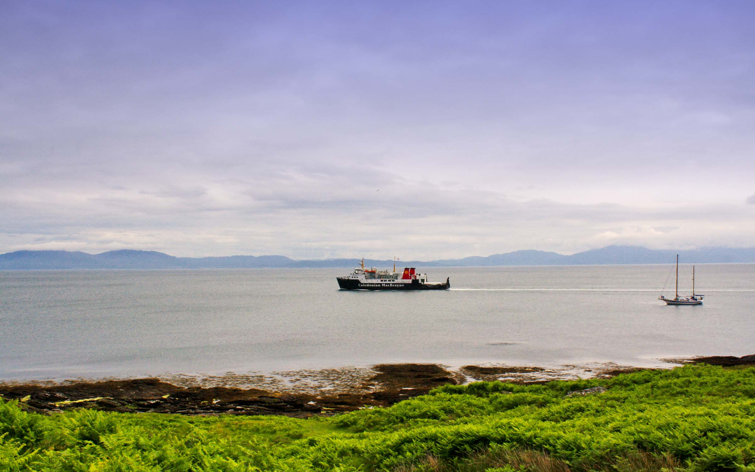 Hebridean Isles leaving Colonsay bound for Oban (Ships of CalMac)