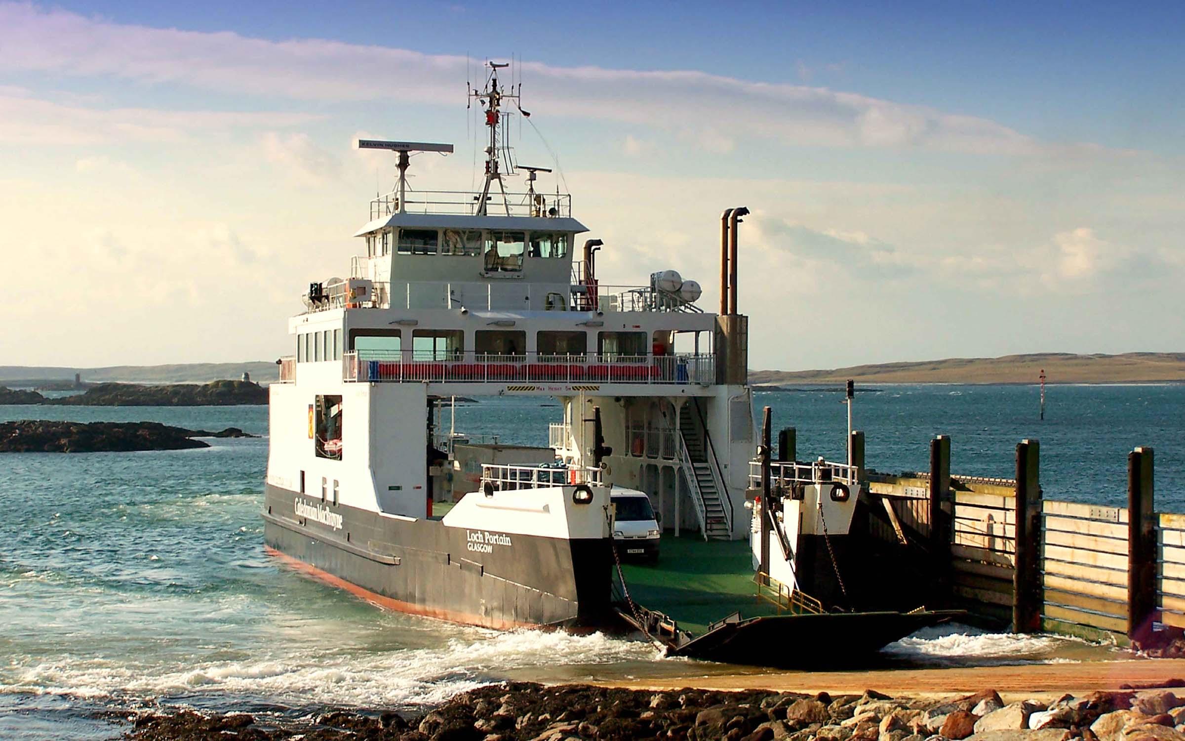 Loch Portain arriving at Leverburgh (Ships of CalMac)