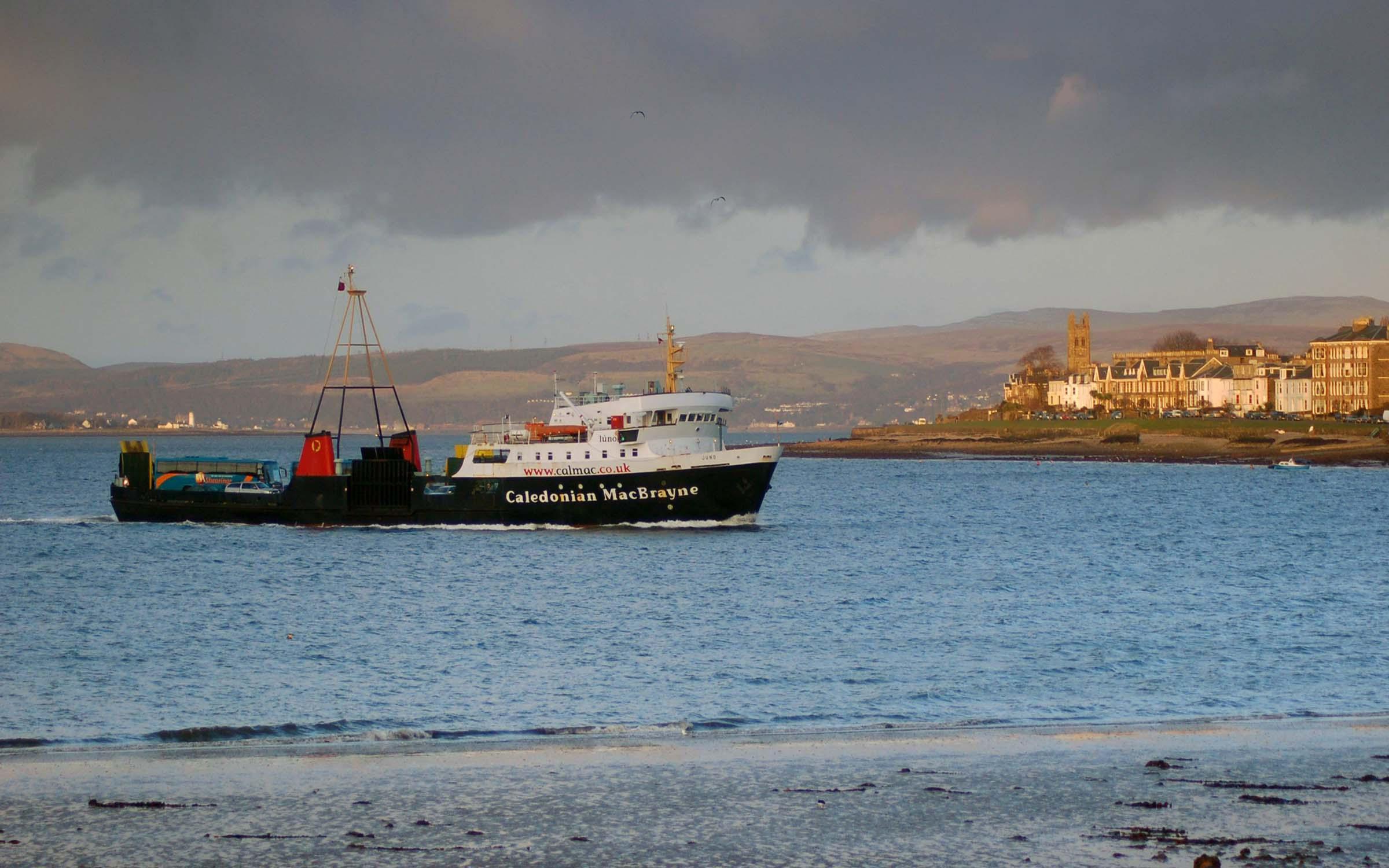 Juno arriving at Rothesay (Ships of CalMac)