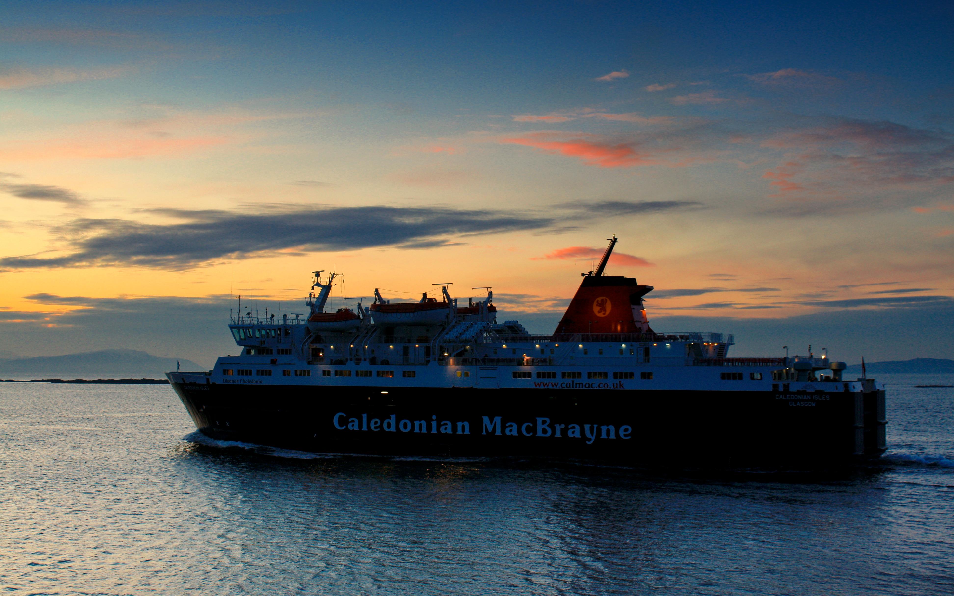 Caledonian Isles leaving Ardrossan at sunset (Ships of CalMac)