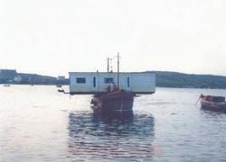 Improvised car ferry