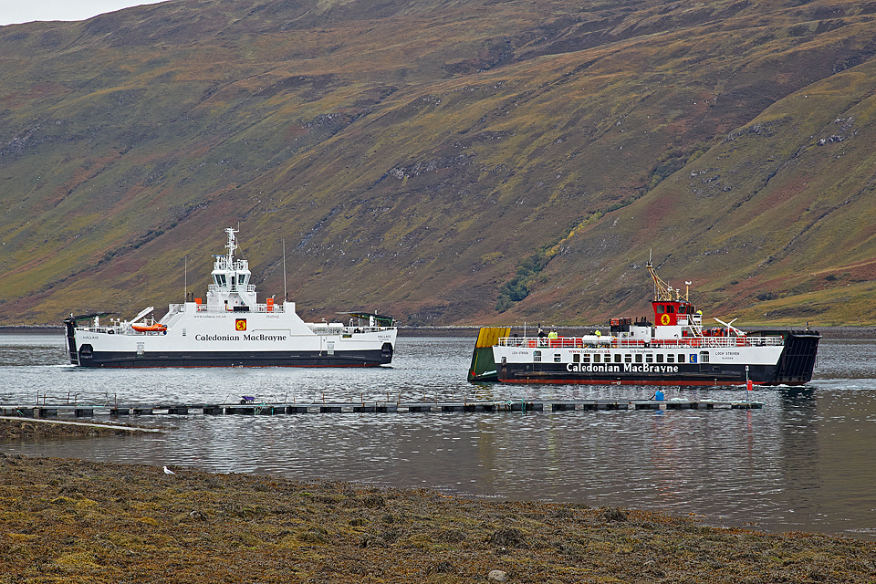 Hallaig and Loch Striven at Sconser (Ships of CaMac)