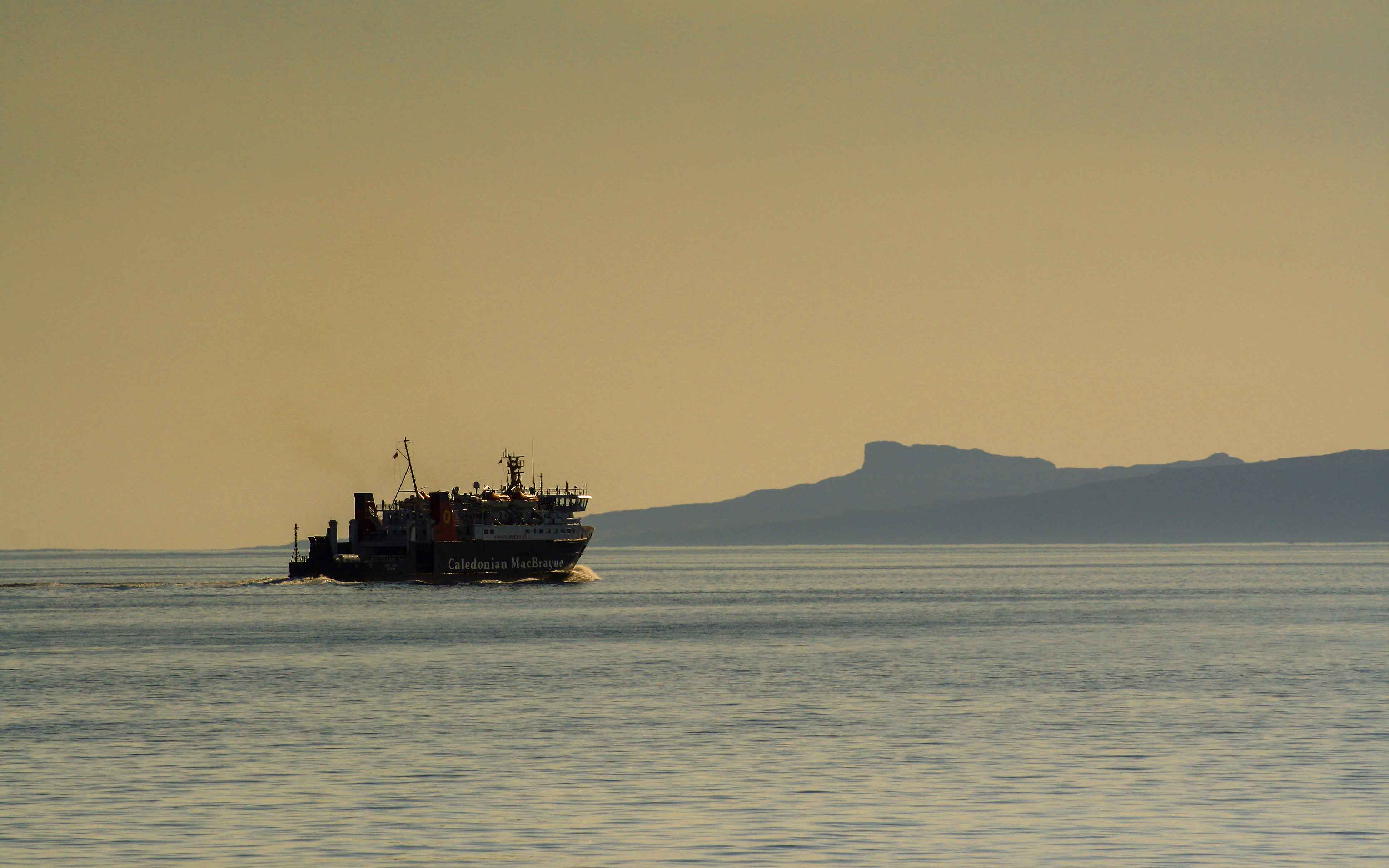 Lord of the Isles heading out past Eigg, bound for Lochboisdale (Ships of CalMac)