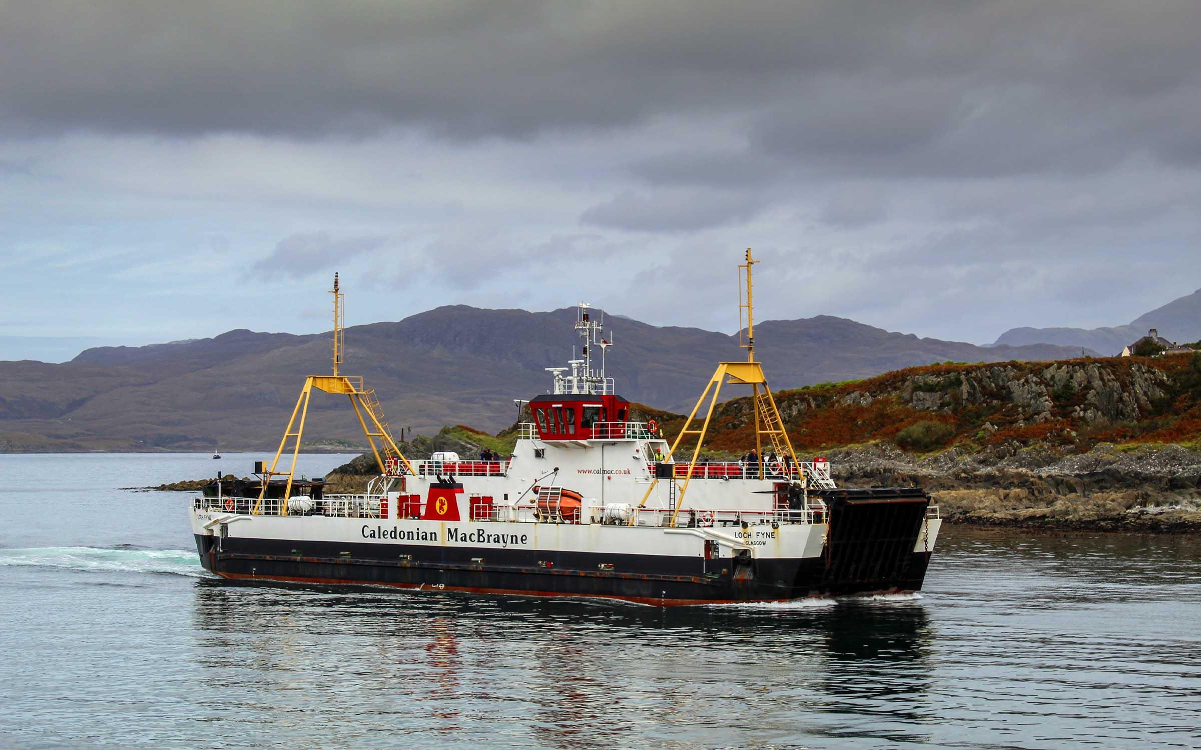 Loch Fyne arriving in Mallaig harbour (Ships of CalMac)