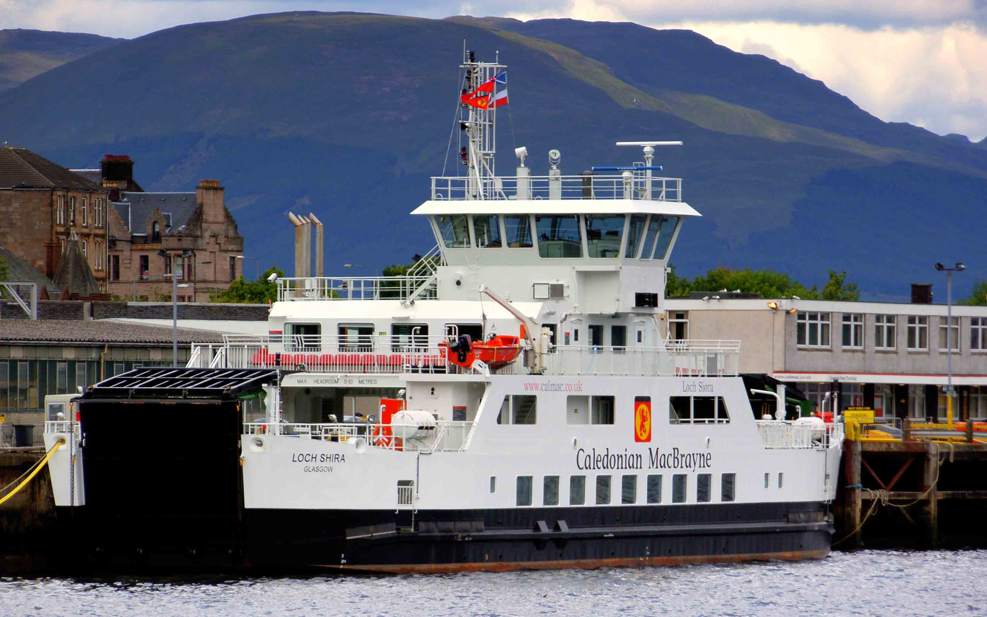 Loch Shira at Gourock prior to entering service